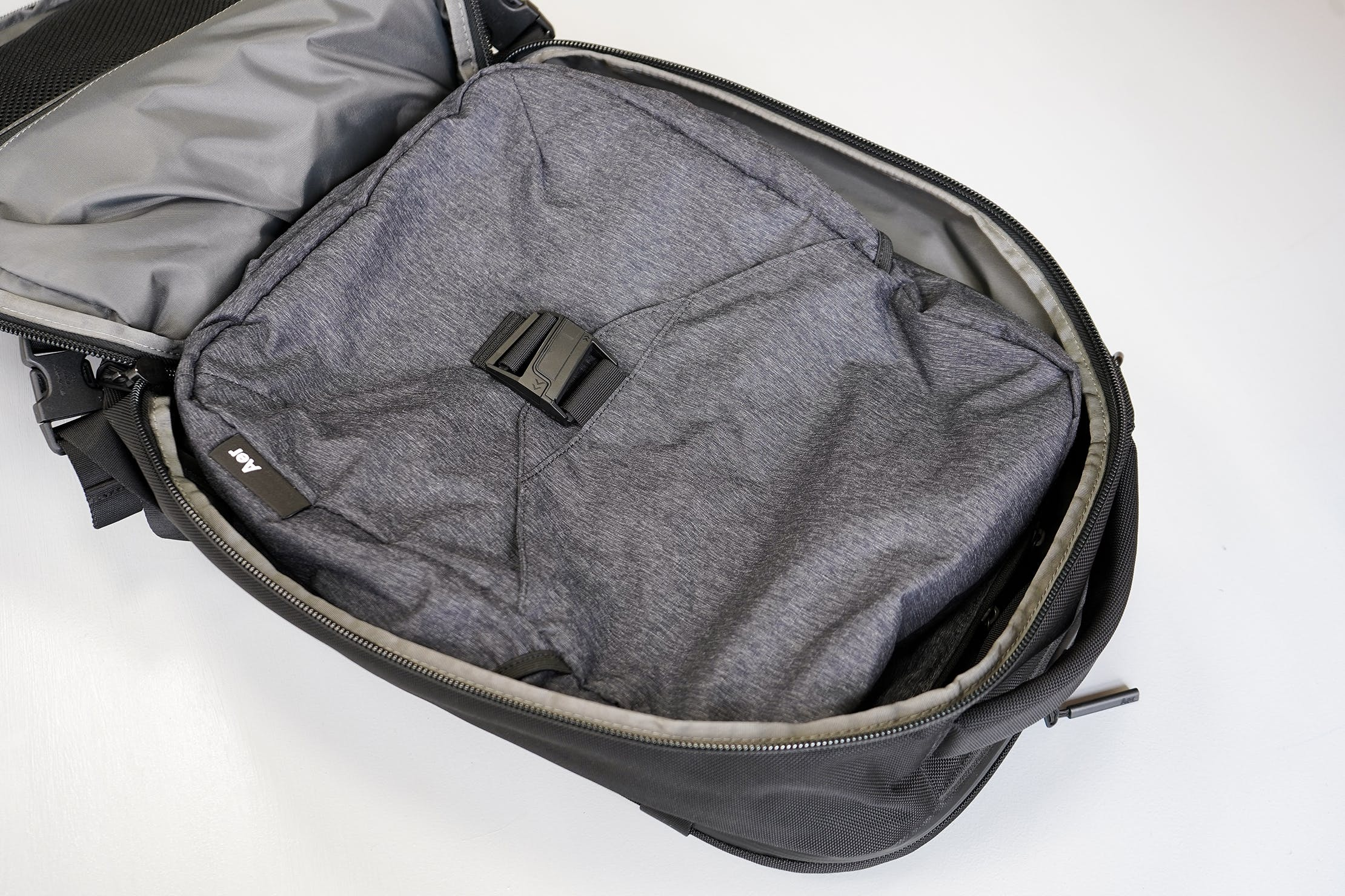 Aer Go Pack Laying Flat Inside The Aer Travel Pack 2