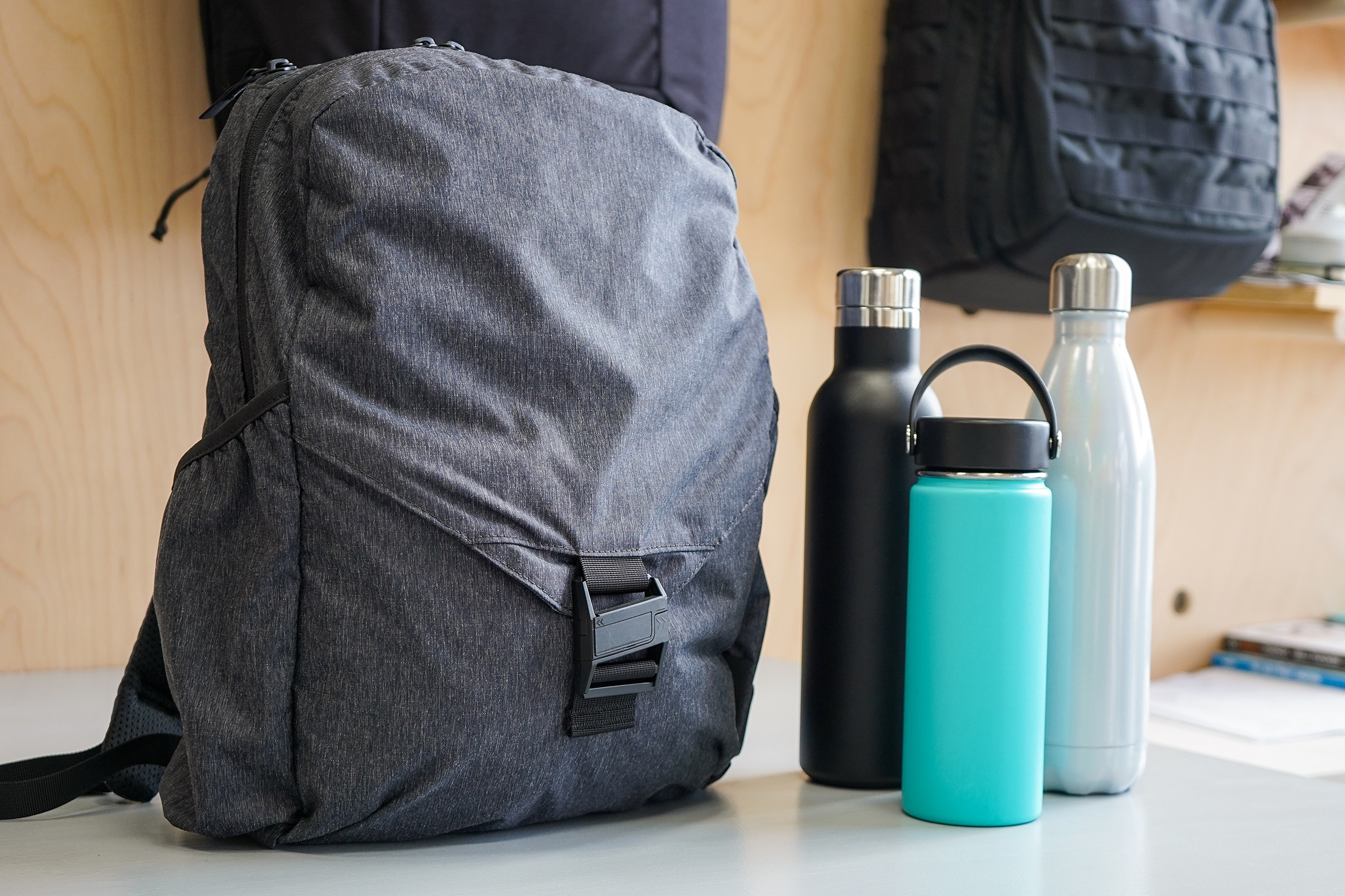 Aer Go Pack Water Bottle Pockets