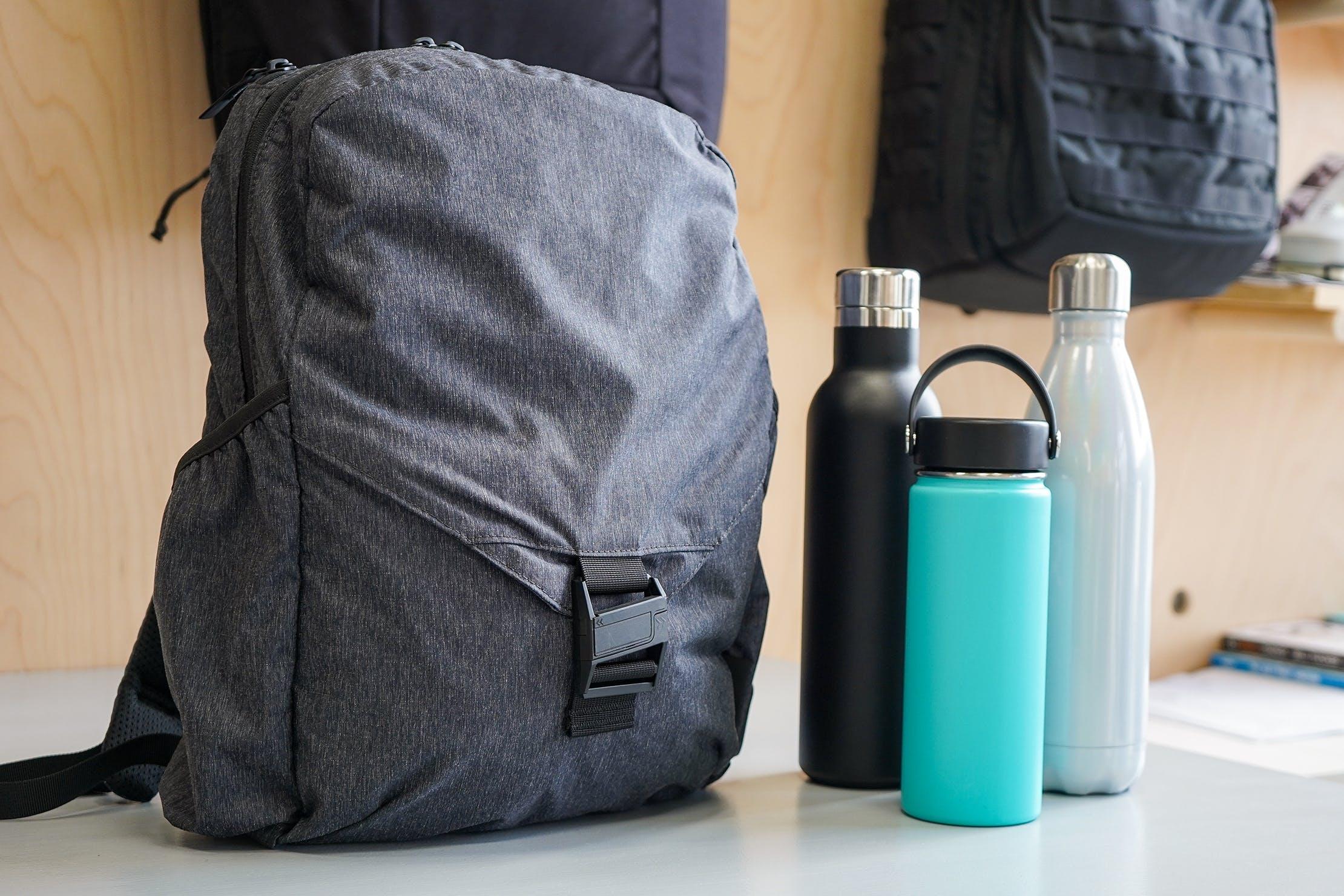 Aer Go Pack Water Bottle Pockets