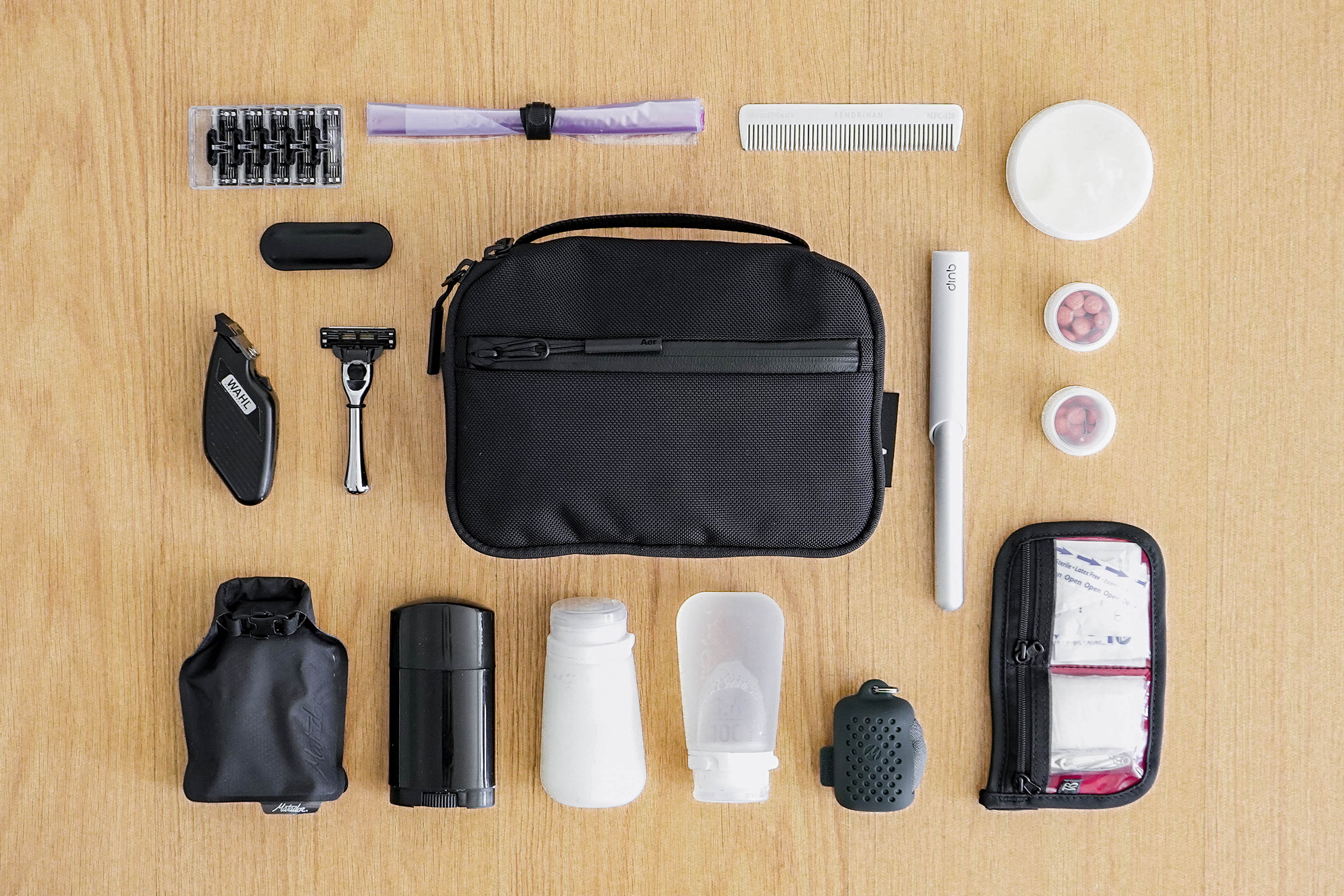 Aer Travel Kit Flat Lay