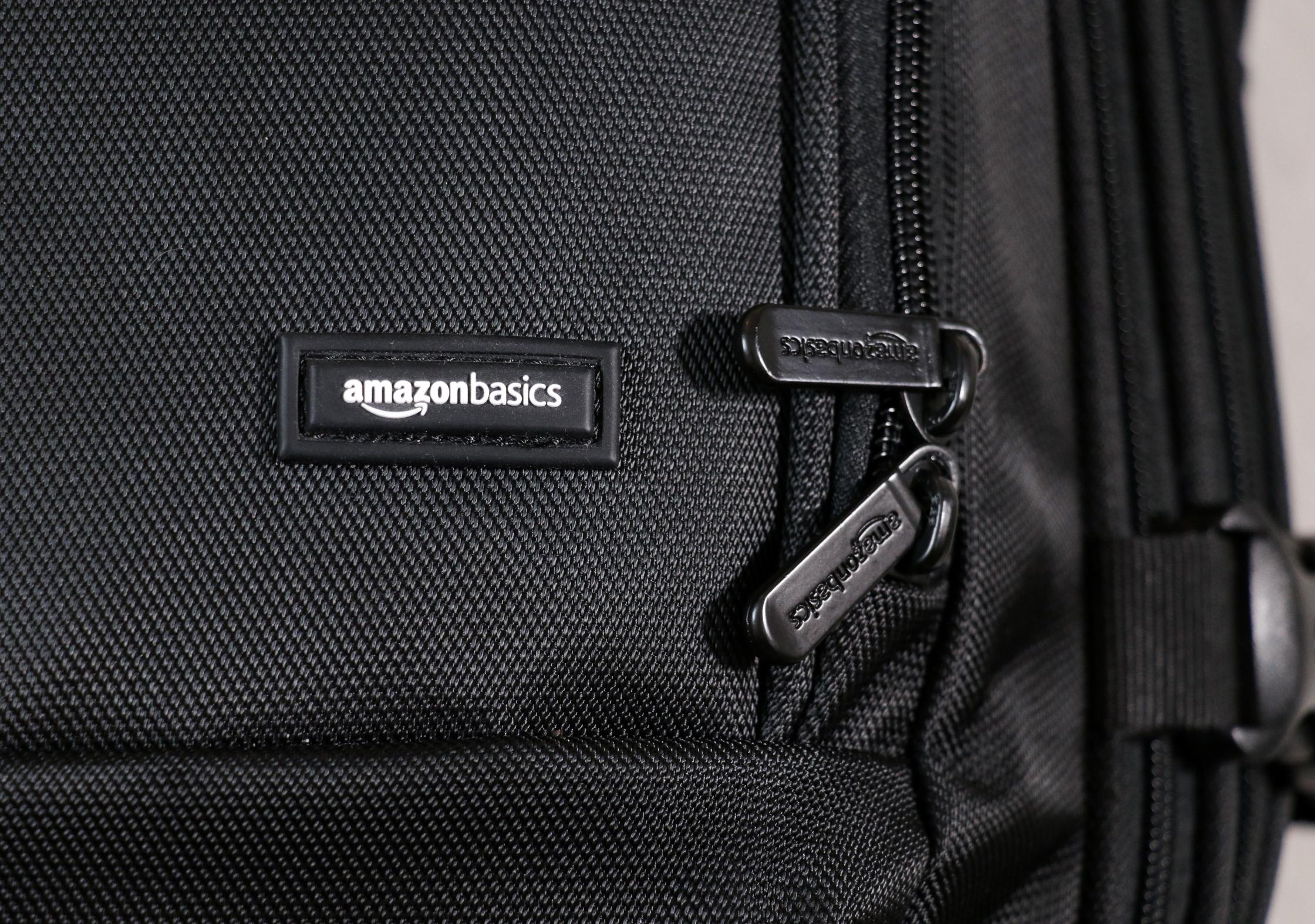 AmazonBasics Carry-On Travel Backpack Branding
