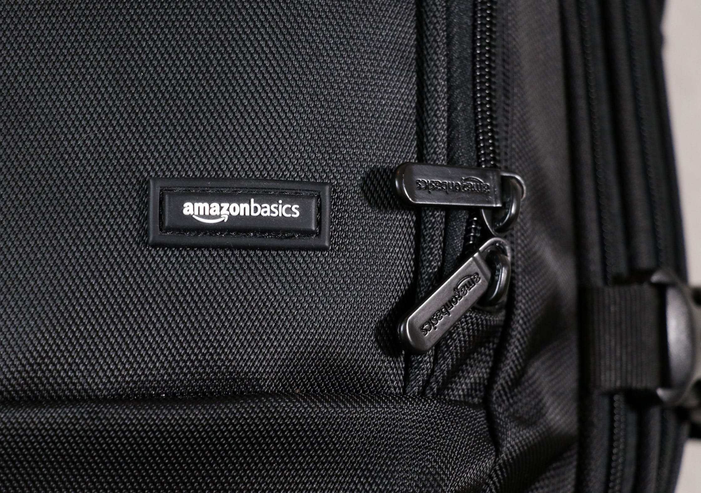 AmazonBasics Carry-On Travel Backpack Branding 76f7ea735c333