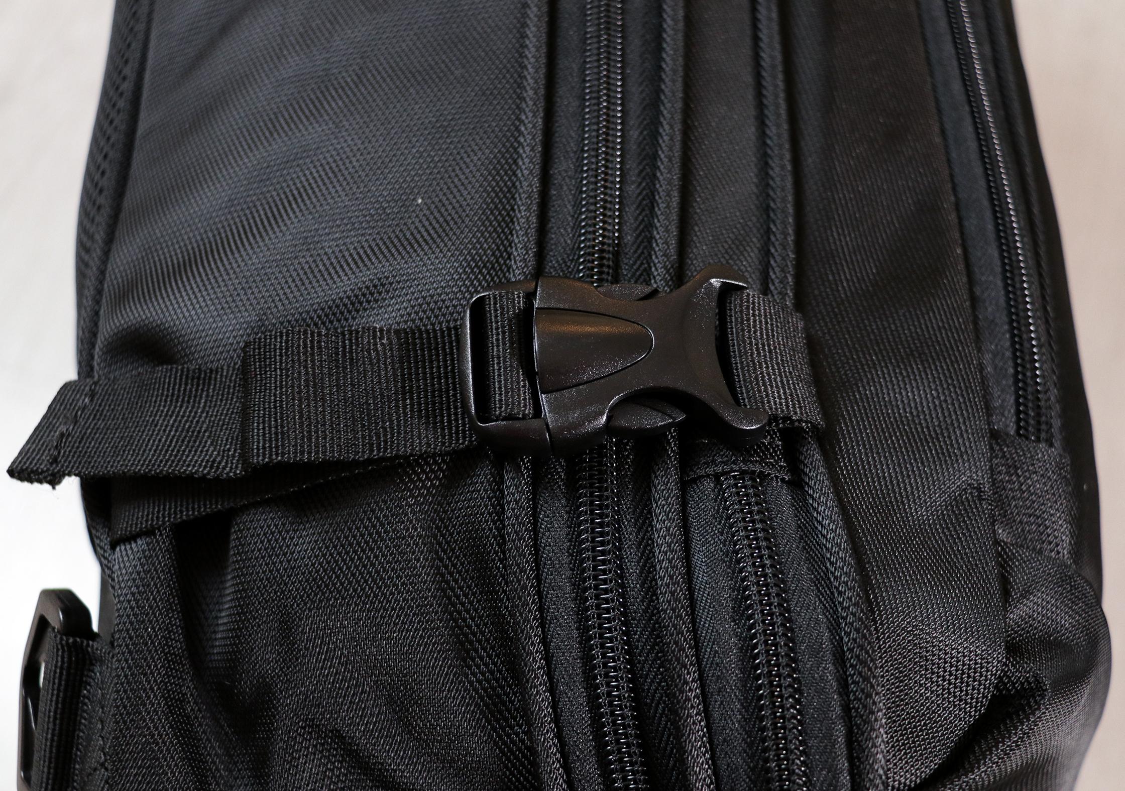 AmazonBasics Carry-On Travel Backpack Buckles