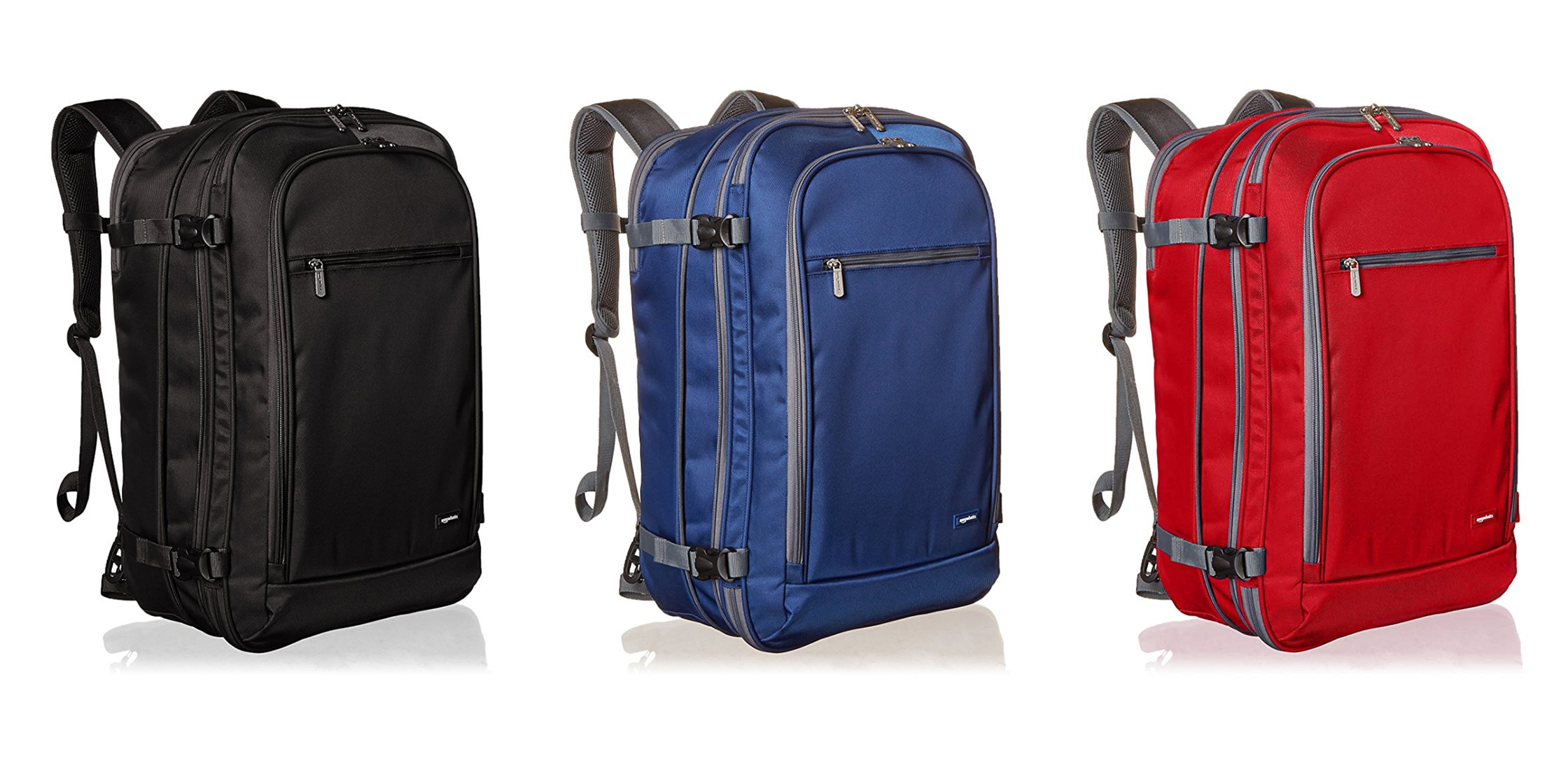 AmazonBasics Carry-On Travel Backpack Colors