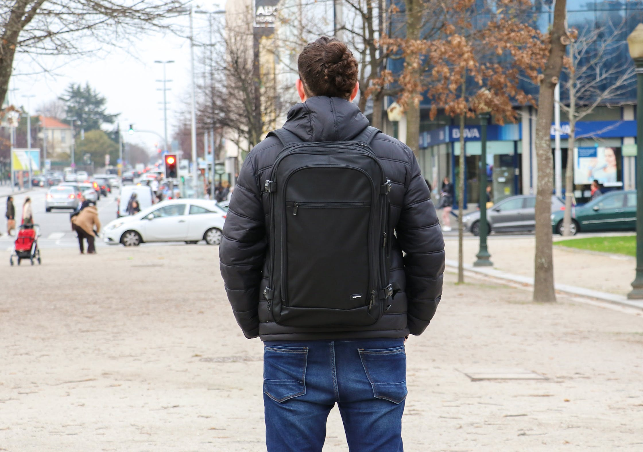 AmazonBasics Carry-On Travel Backpack In Porto, Portugal