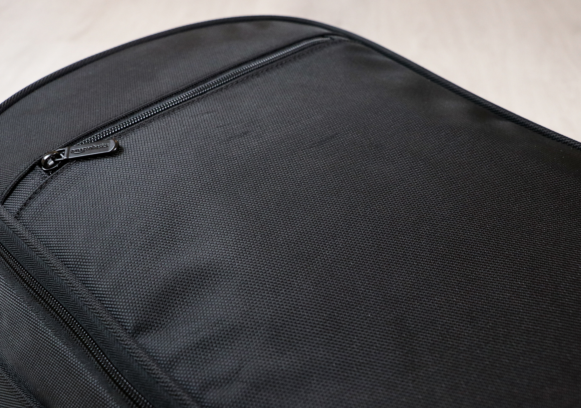 AmazonBasics Carry-On Travel Backpack Polyester Material