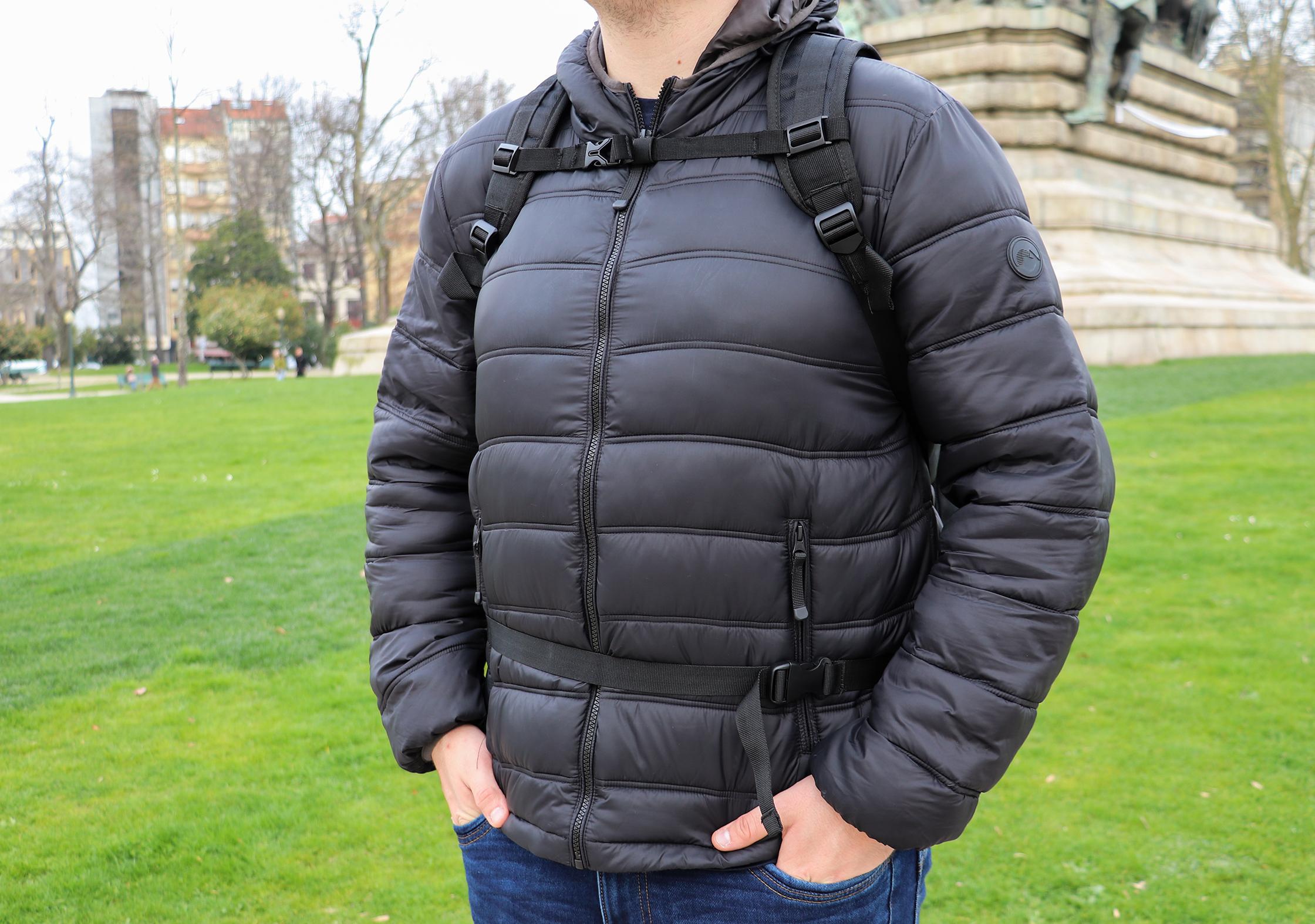 AmazonBasics Carry-On Travel Backpack Sternum Strap & Hip Belt
