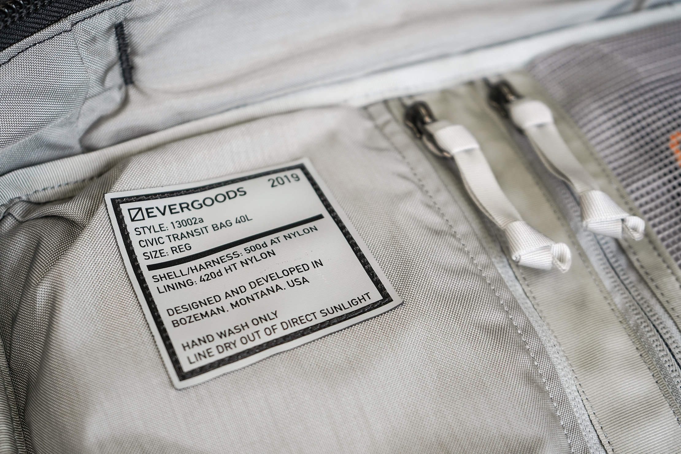 EVERGOODS CTB40 Information Tag