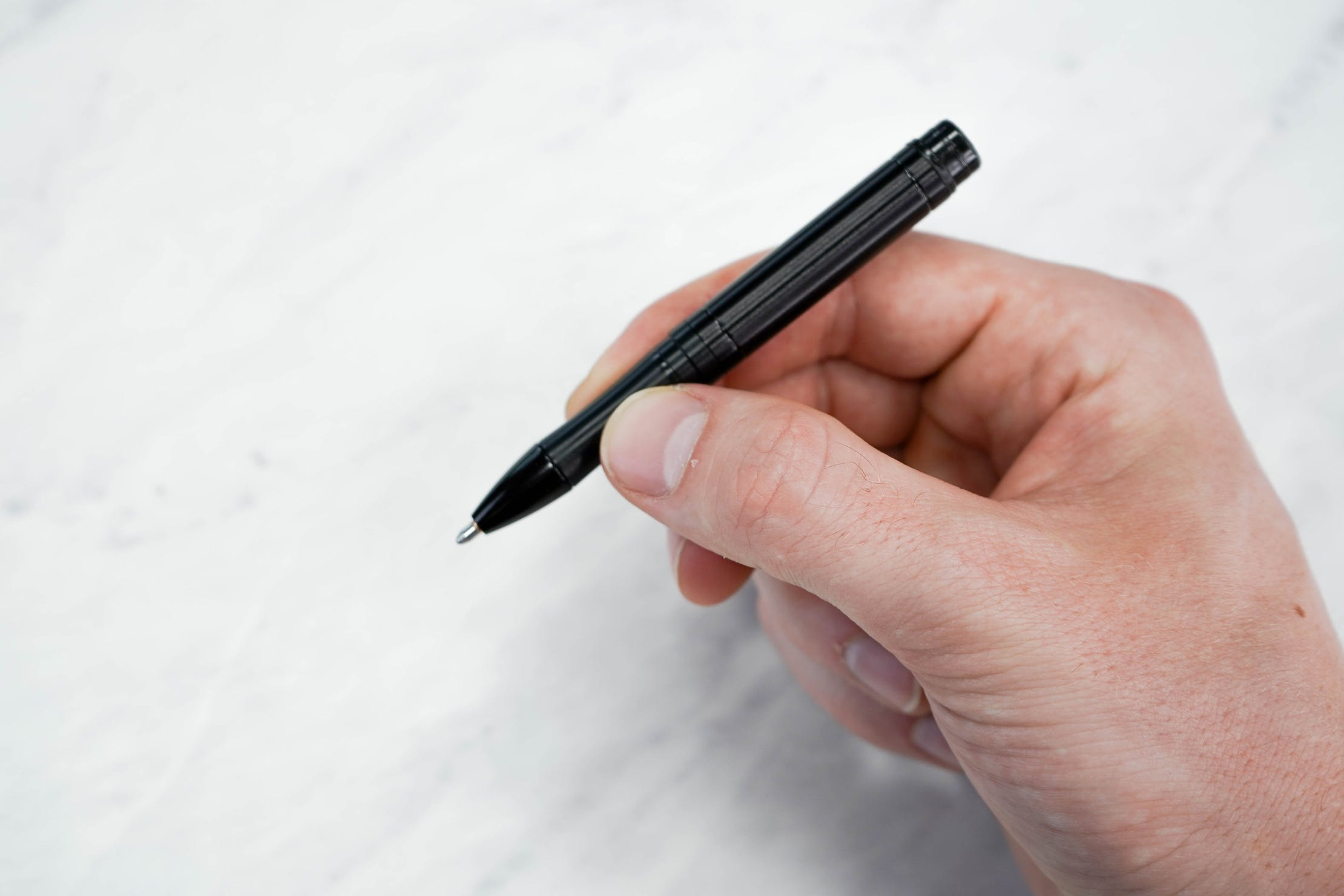 Fisher Backpacker Space Pen Small In Hand