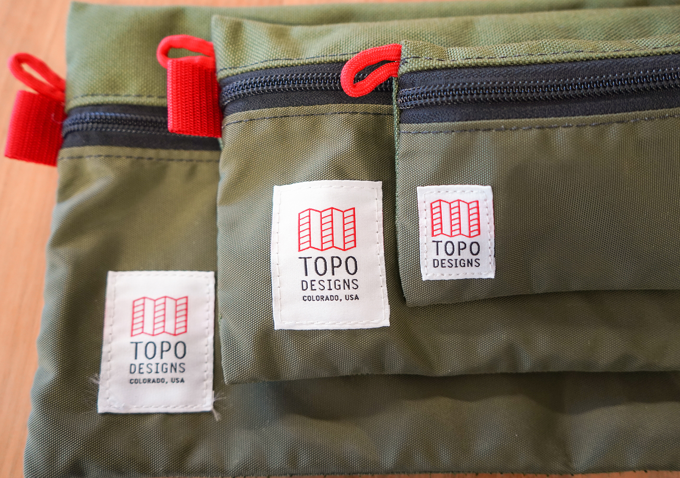 Topo Accessory Bags Stacked Logos