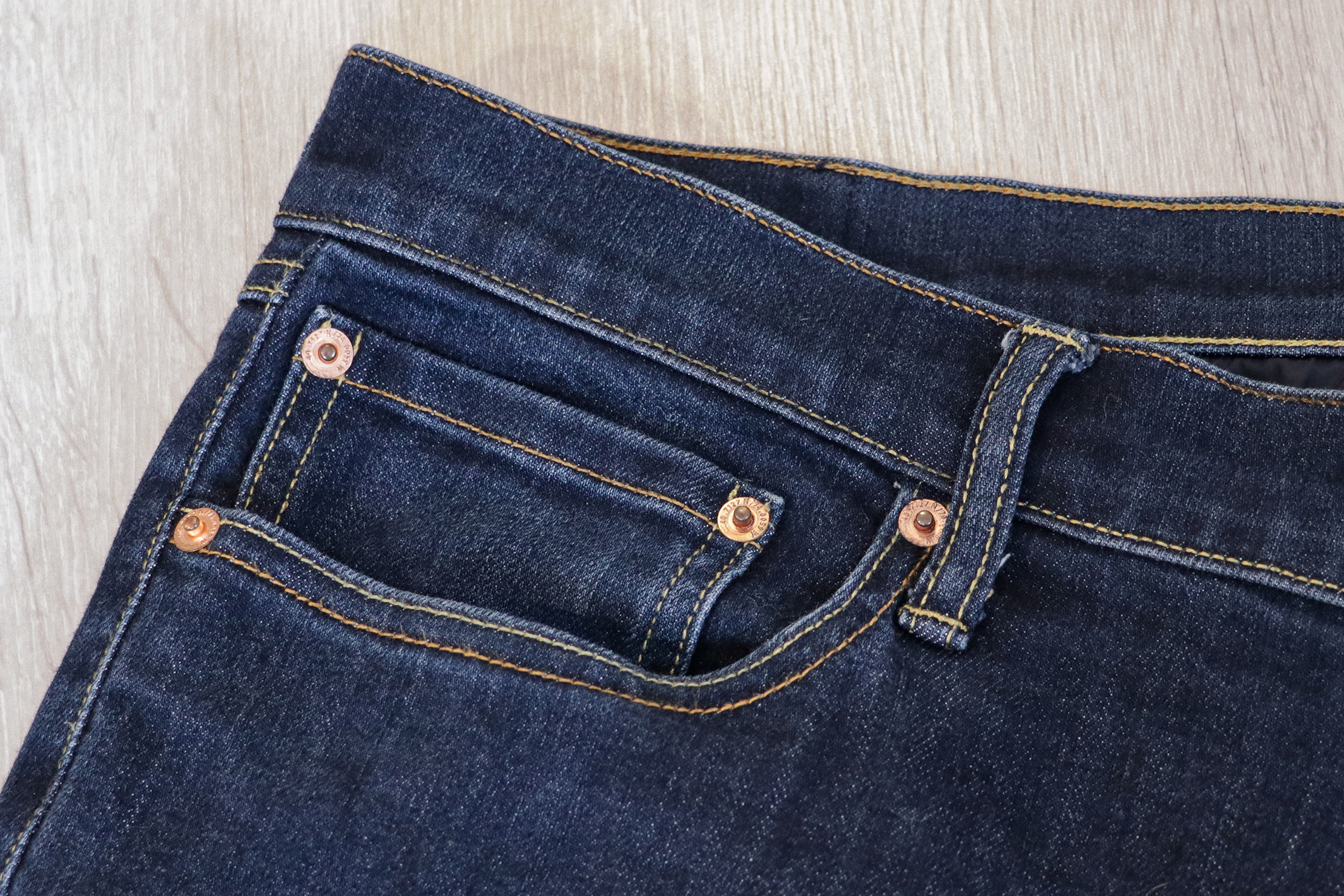 Bluffworks Departure Travel Jeans Stitching