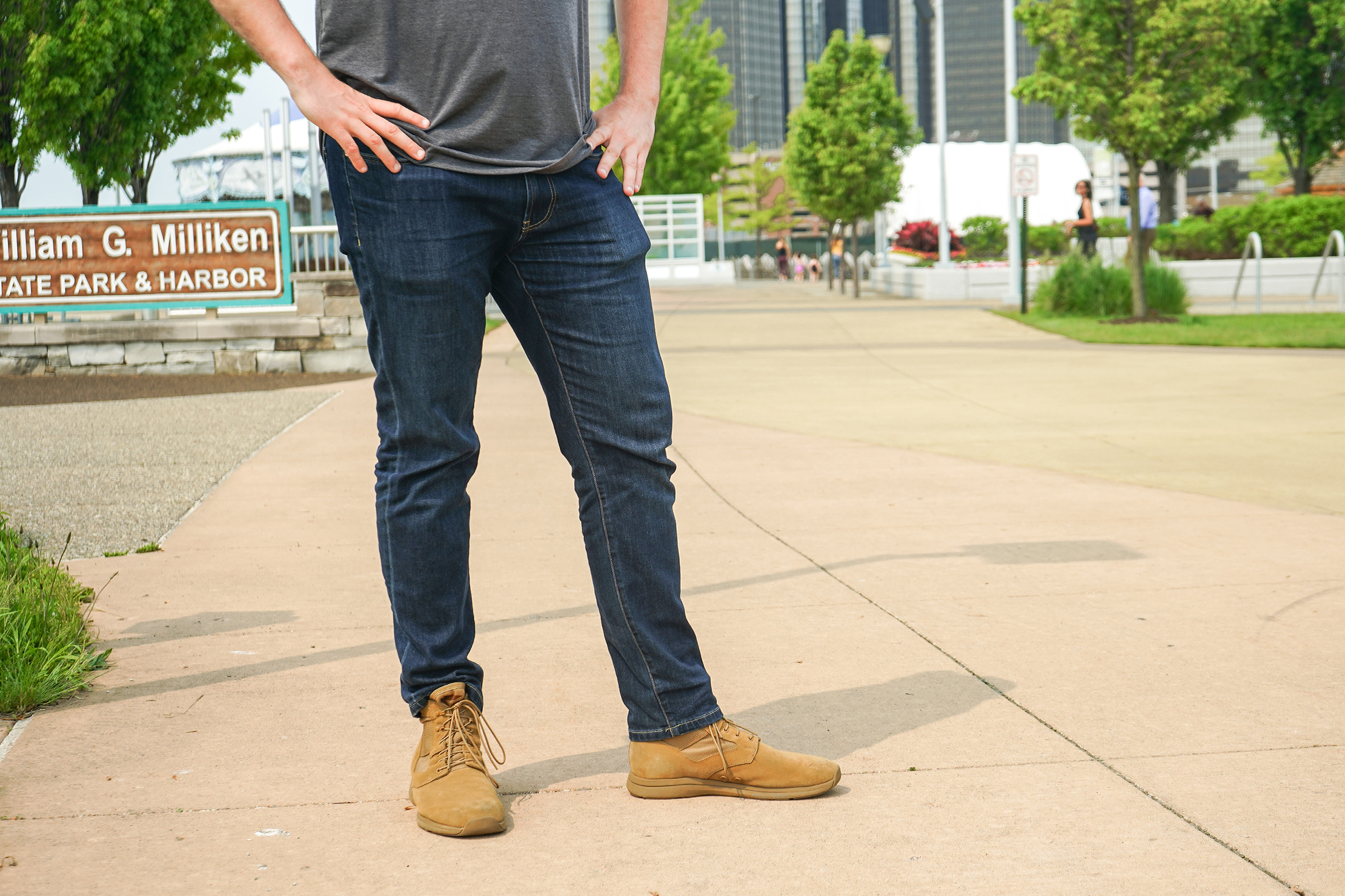 Bluffworks Departure Travel Jeans In Detroit, Michigan