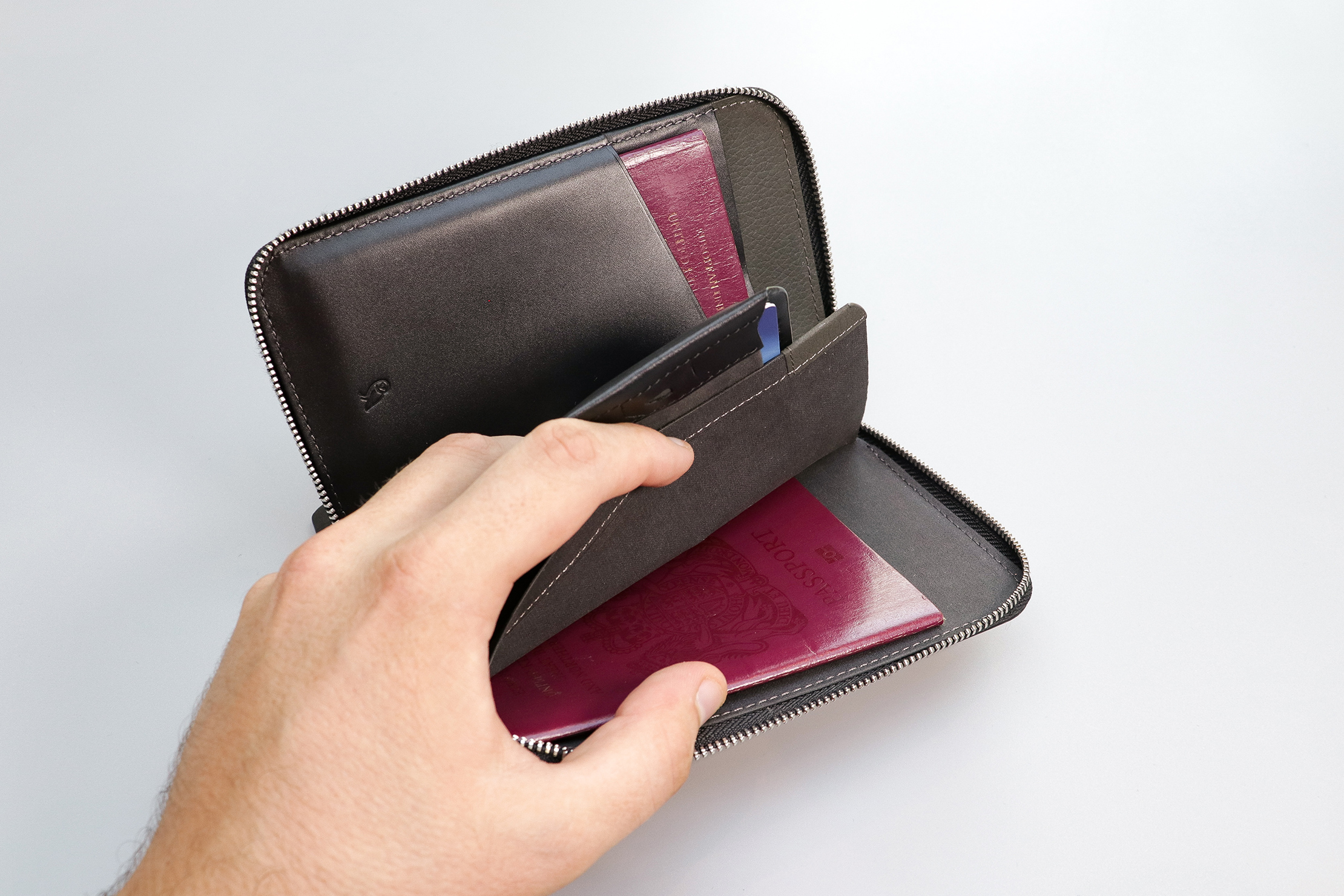 Bellroy Travel Folio With A Passport In The Back Compartment