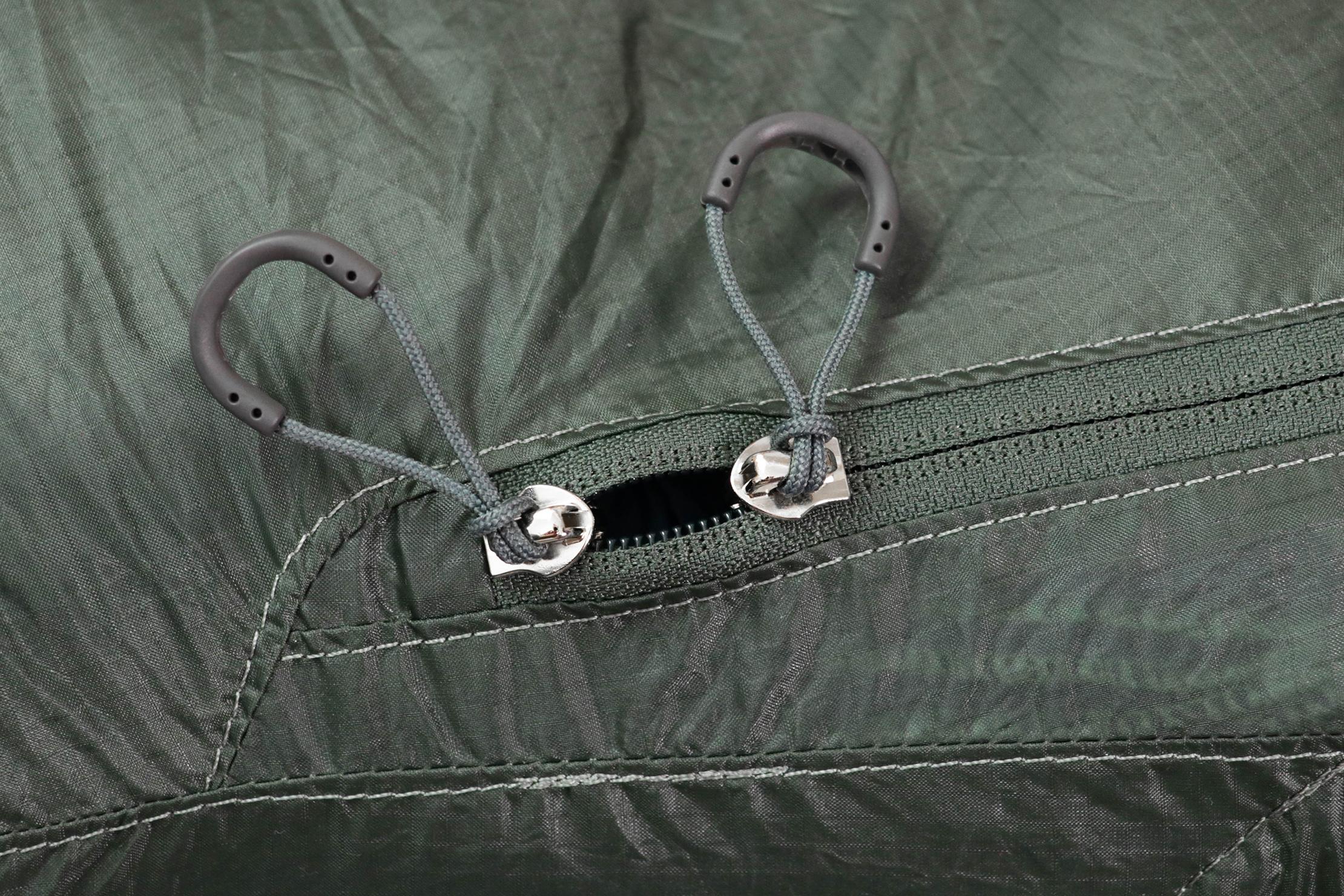 Osprey Ultralight Stuff Pack Zippers