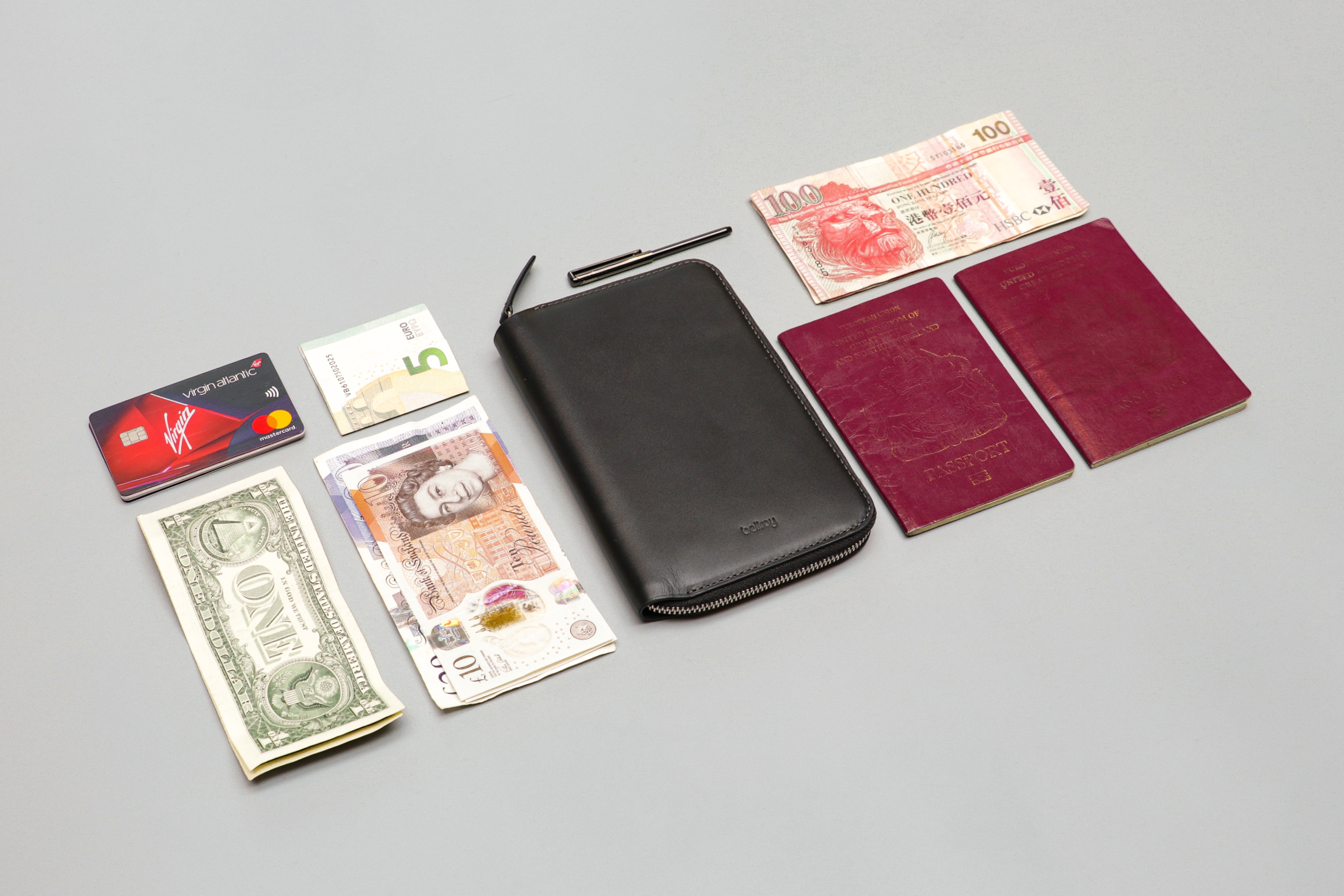 Bellroy Travel Folio Flat Lay