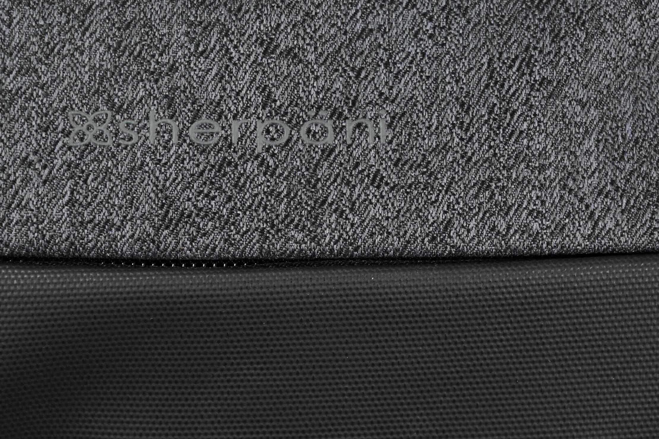 Sherpani Qube Hip Pack Material Logo