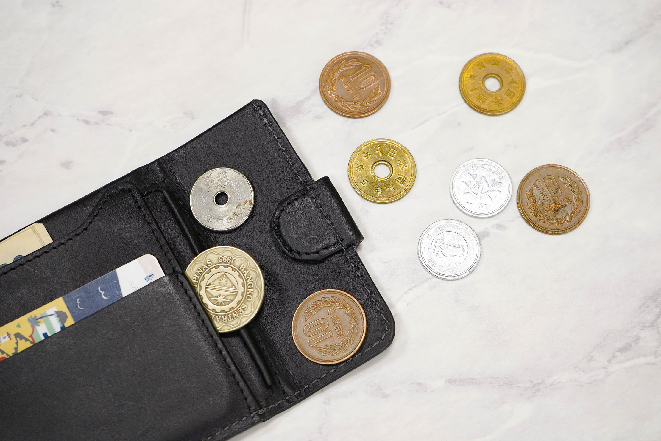 Bellroy Coin Fold With Coins