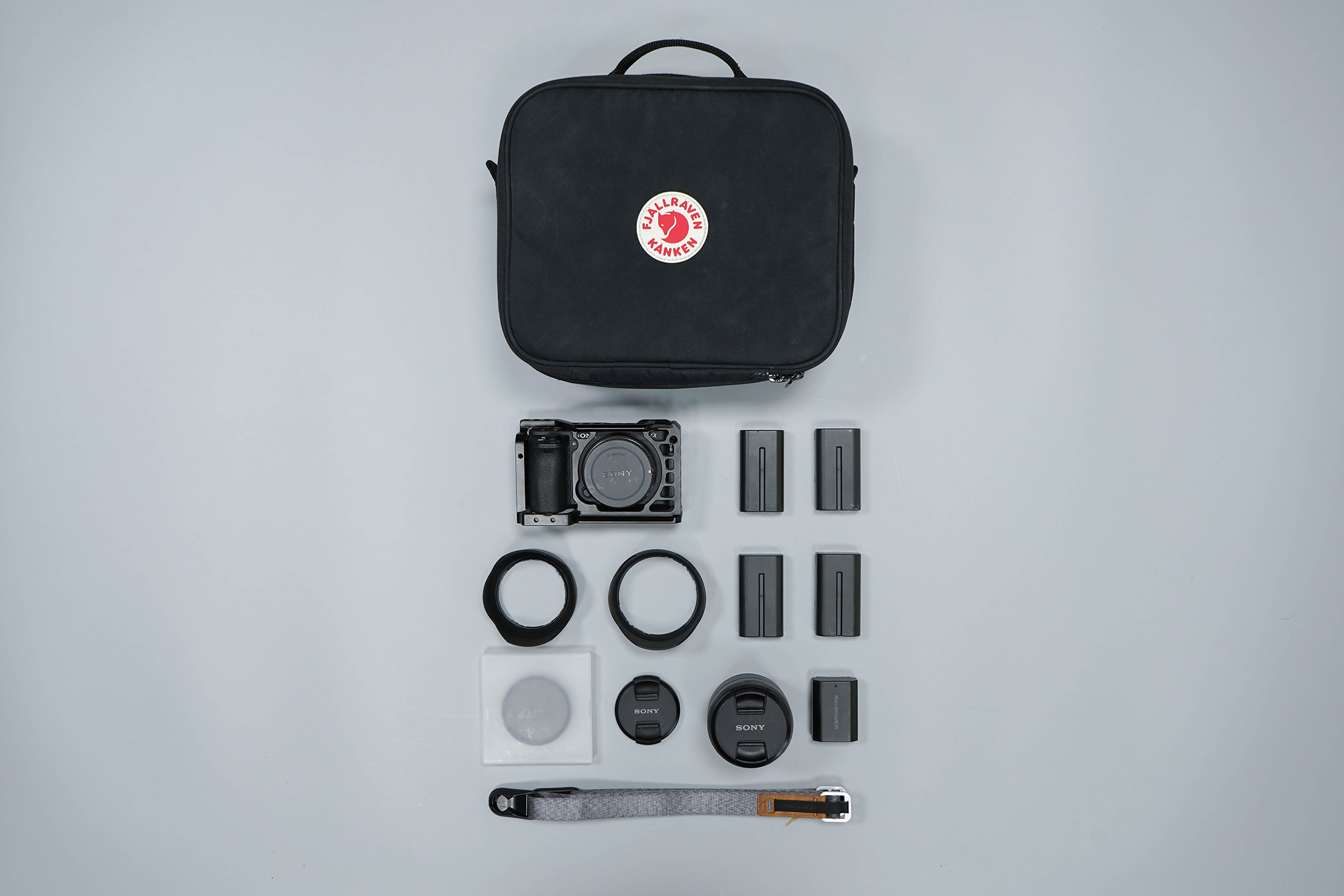 Fjallraven Kanken Photo Insert Small Flat Lay