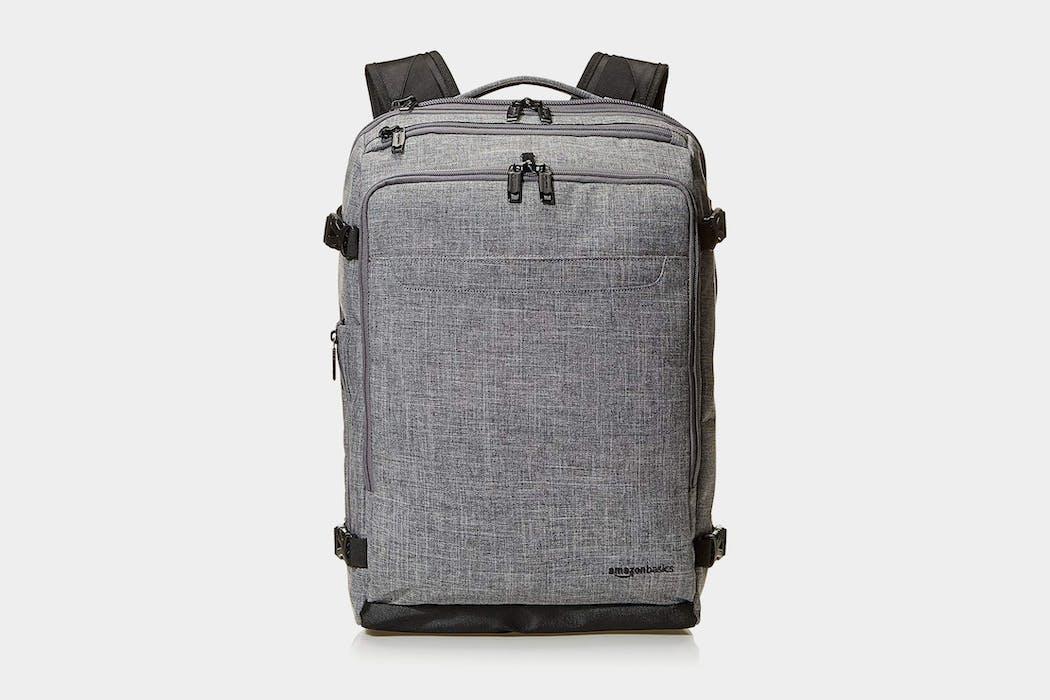 AmazonBasics Slim Carry On Travel Backpack Weekender