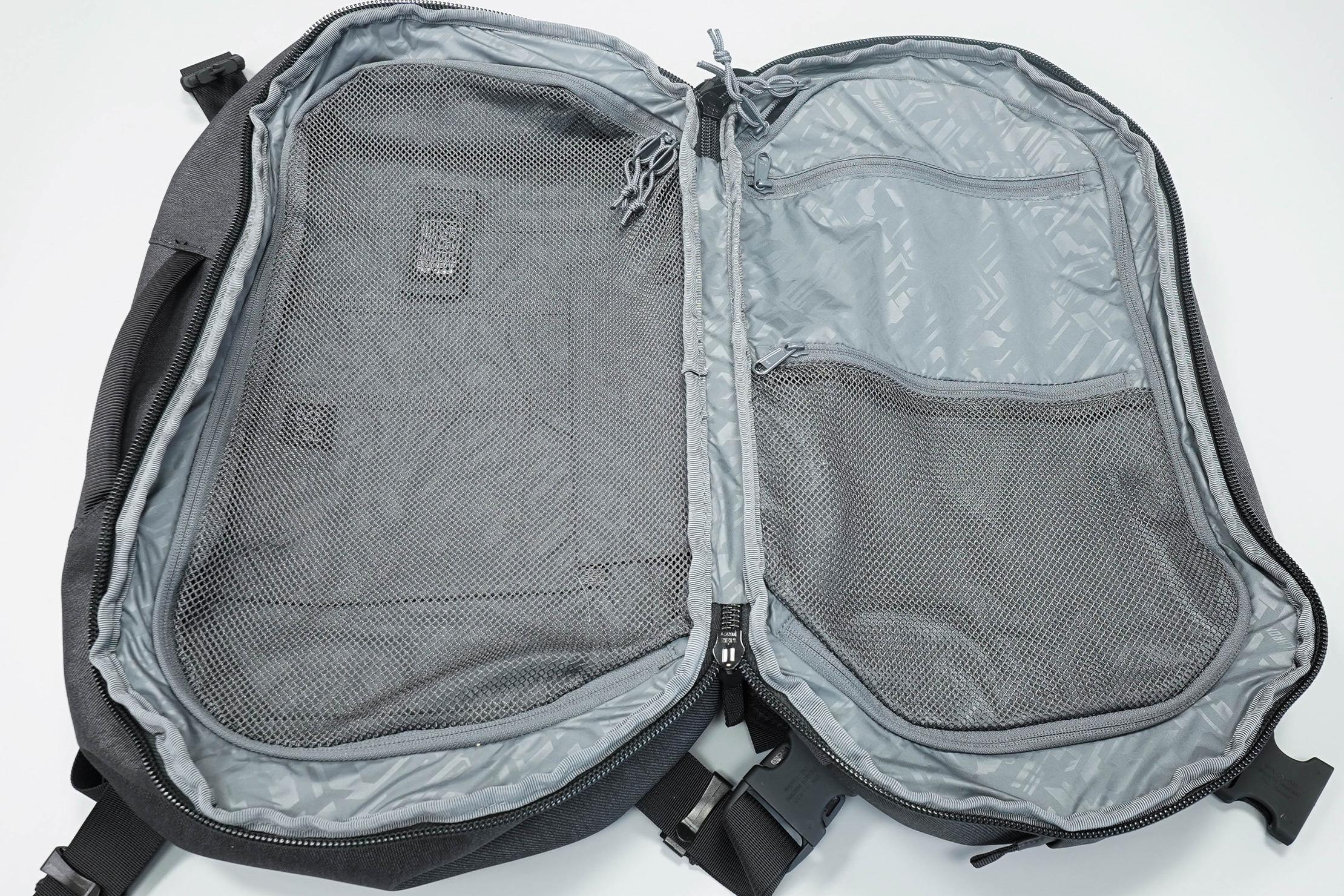 Chrome Summoner Backpack Clamshell Open