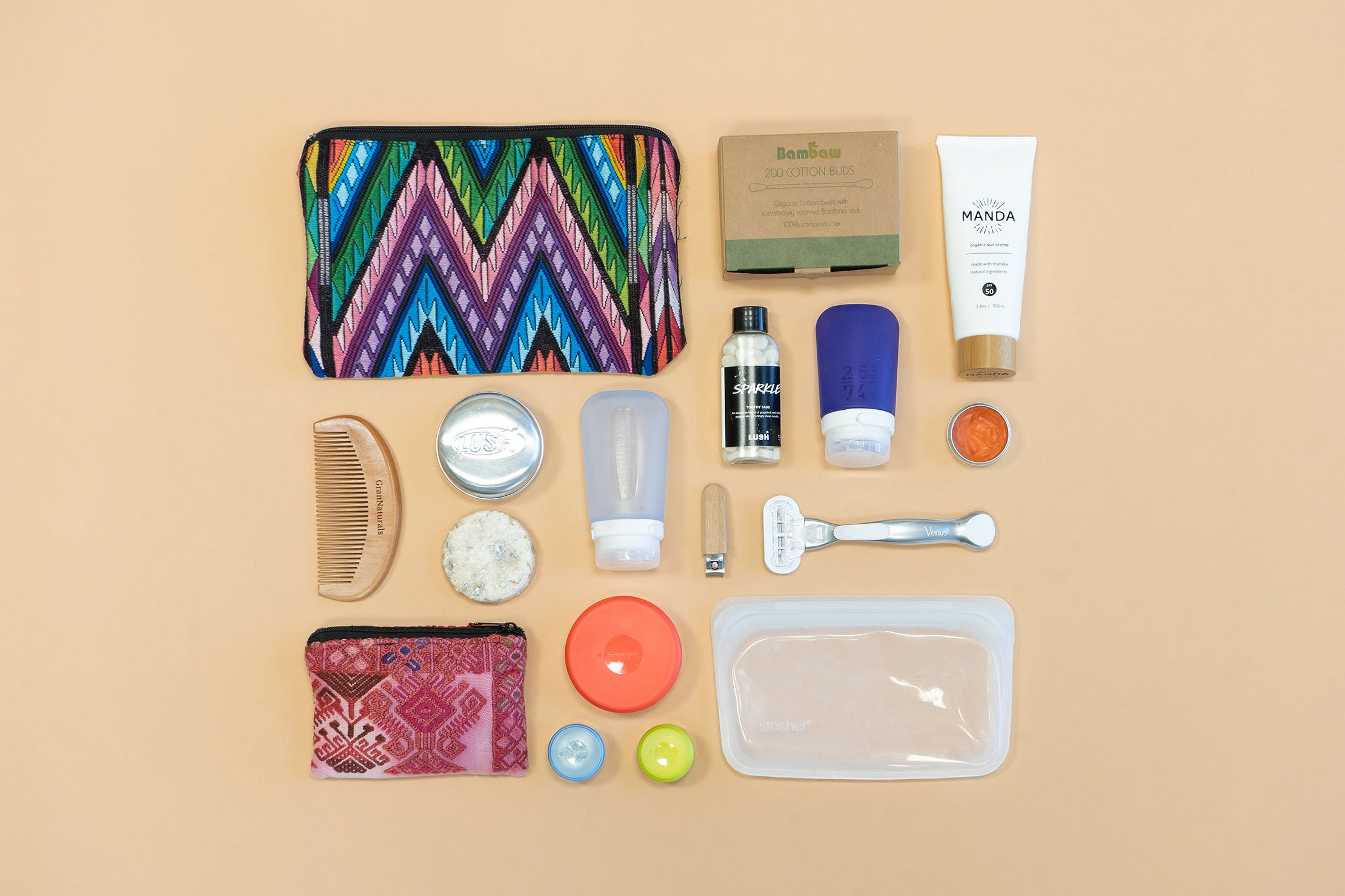 Earth Friendly Sustainable Packing List Toiletries & Personal Care