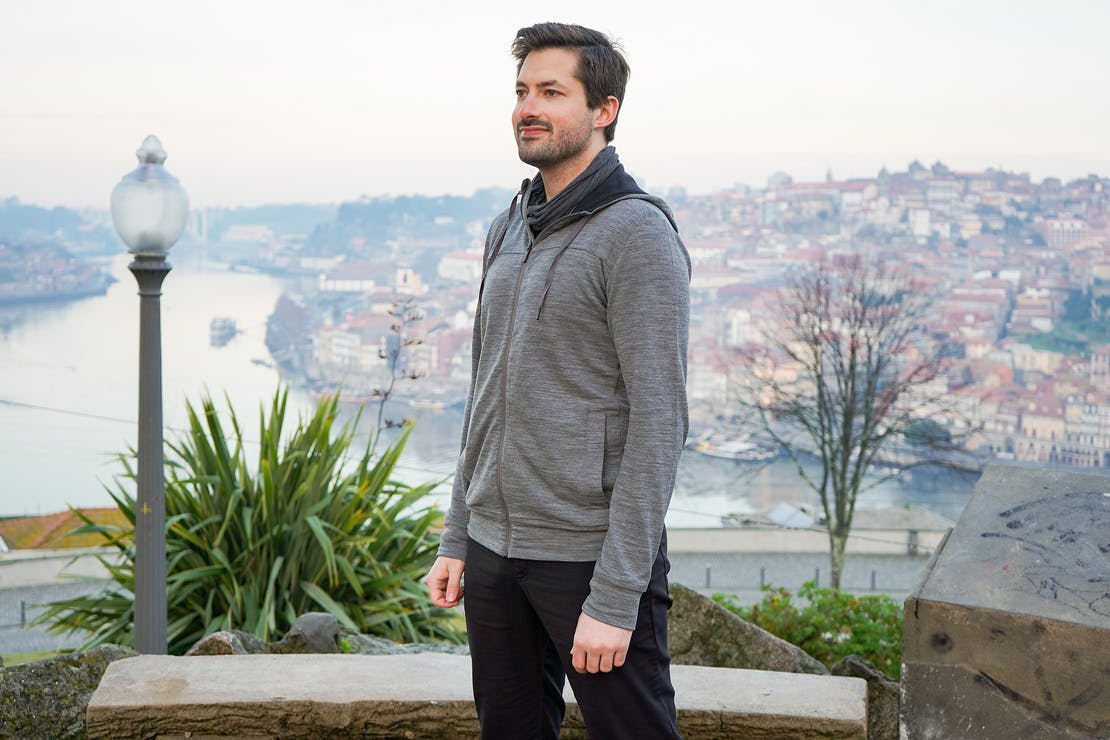 Icebreaker Shifter Long Sleeve Zip Hoodie In Porto, Portugal