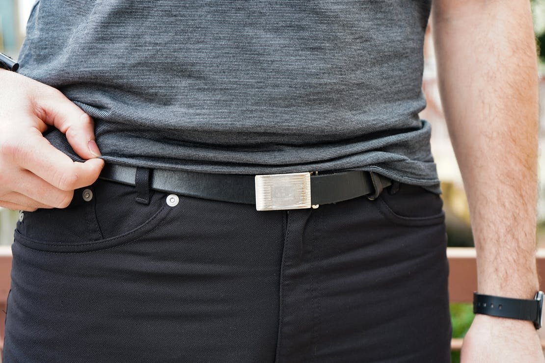 J Crew Leather Plaque Belt
