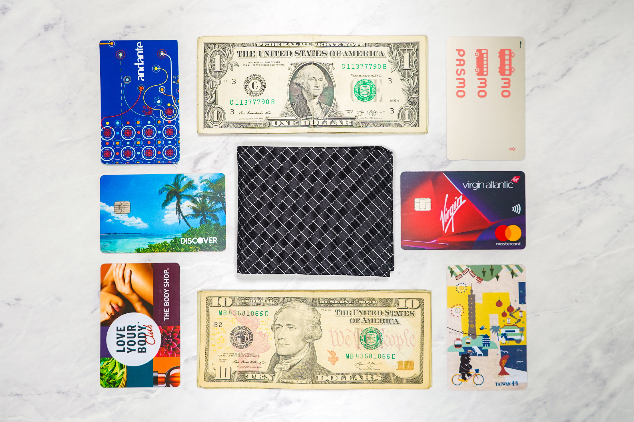 Pioneer Flyfold Wallet Flat Lay