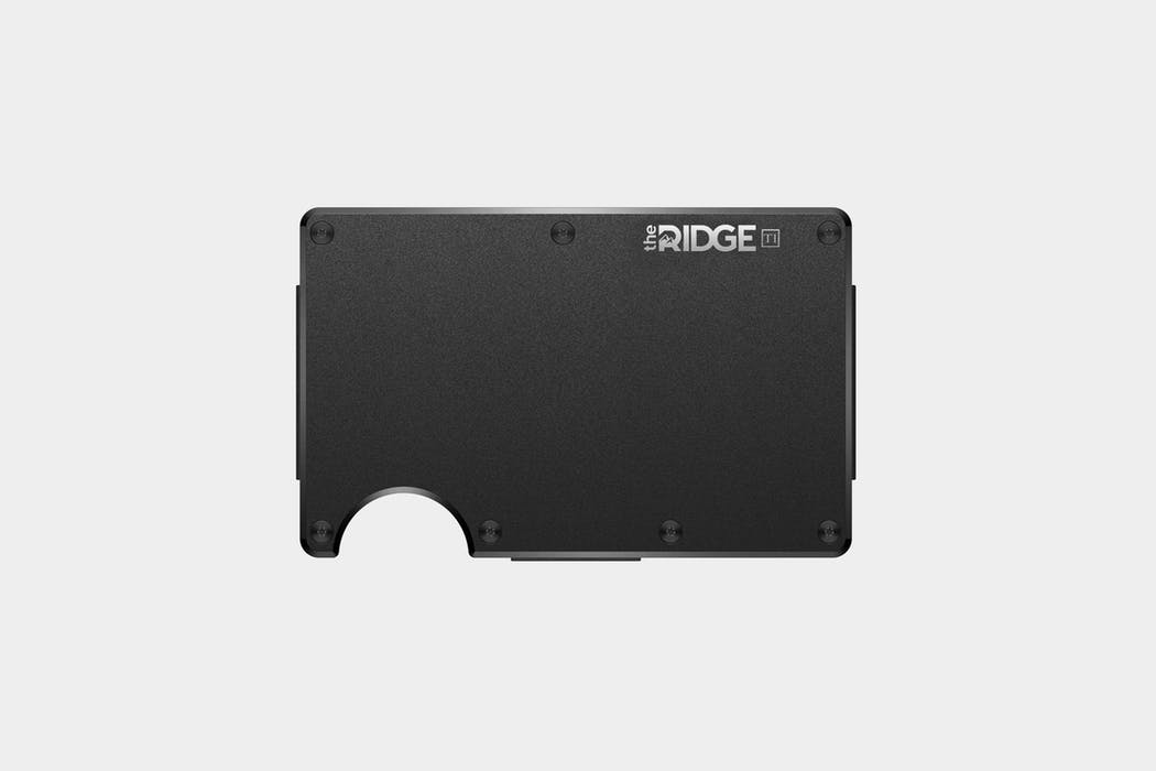 The Ridge Wallet Titanium Black