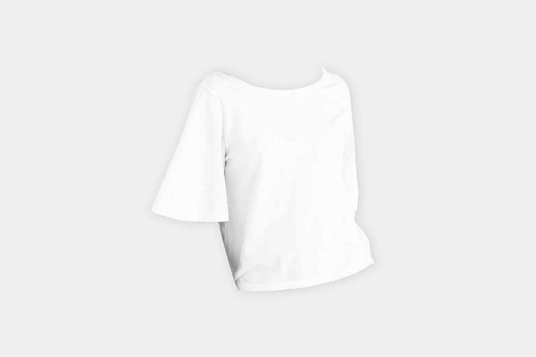 VETTA The Cropped Flutter Tee