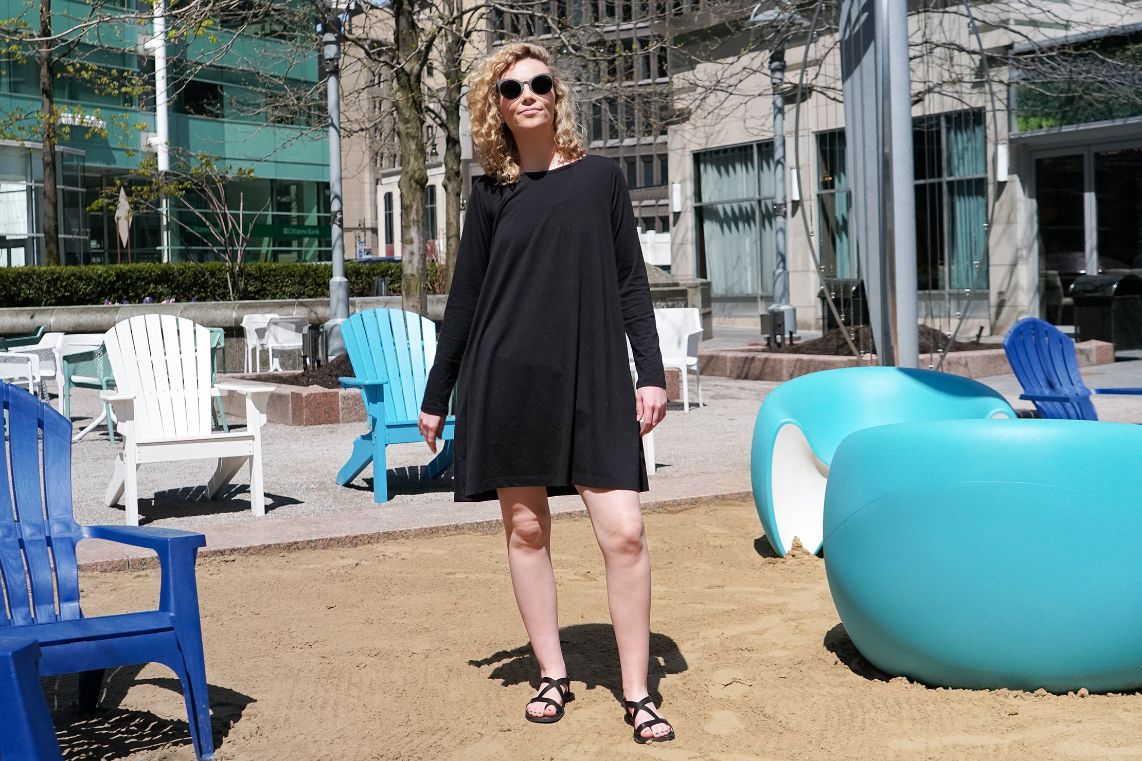 Wool& Rowena Swing Dress In Detroit