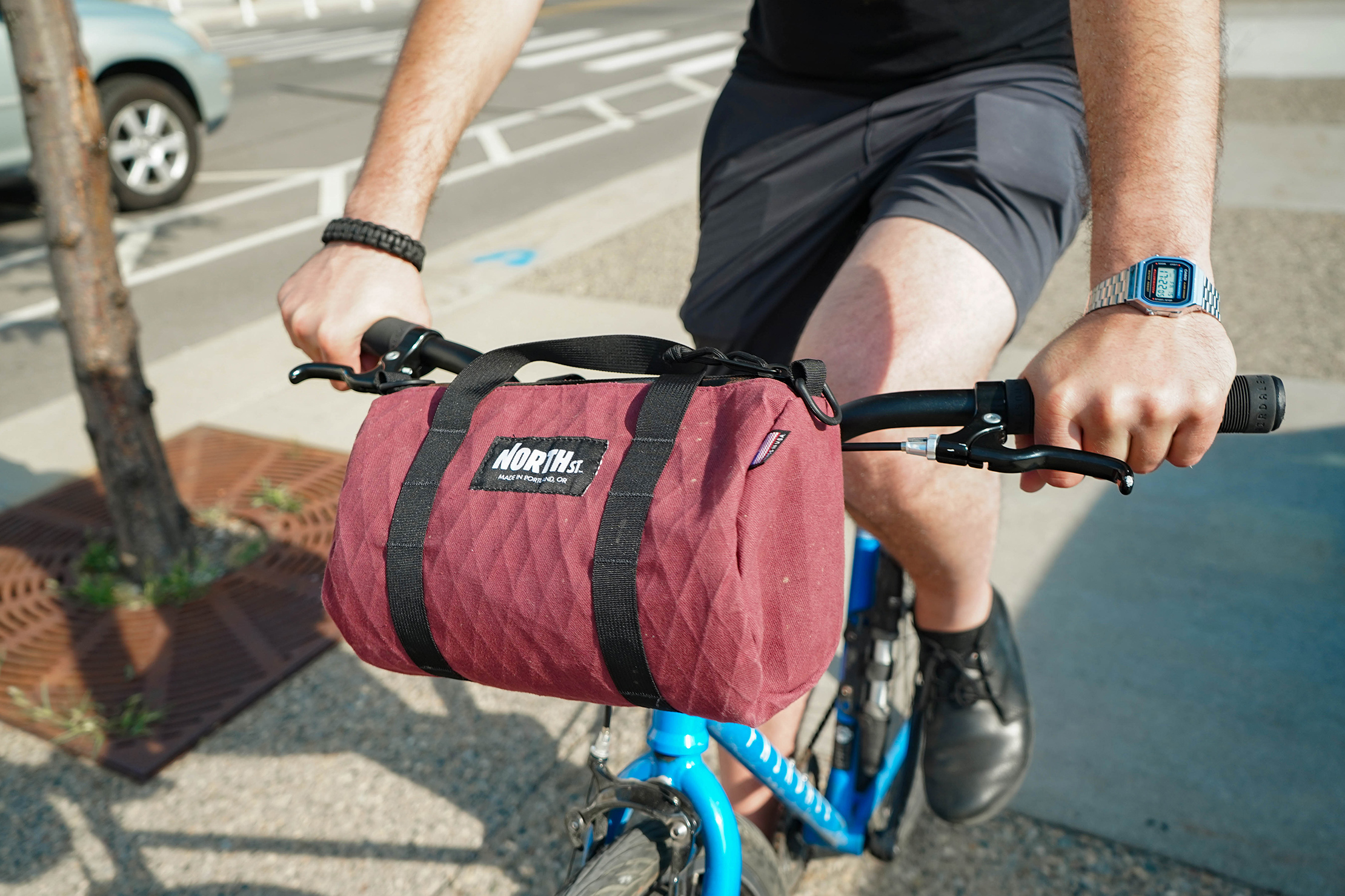 North St. Bags Scout 6L Duffle On Bike