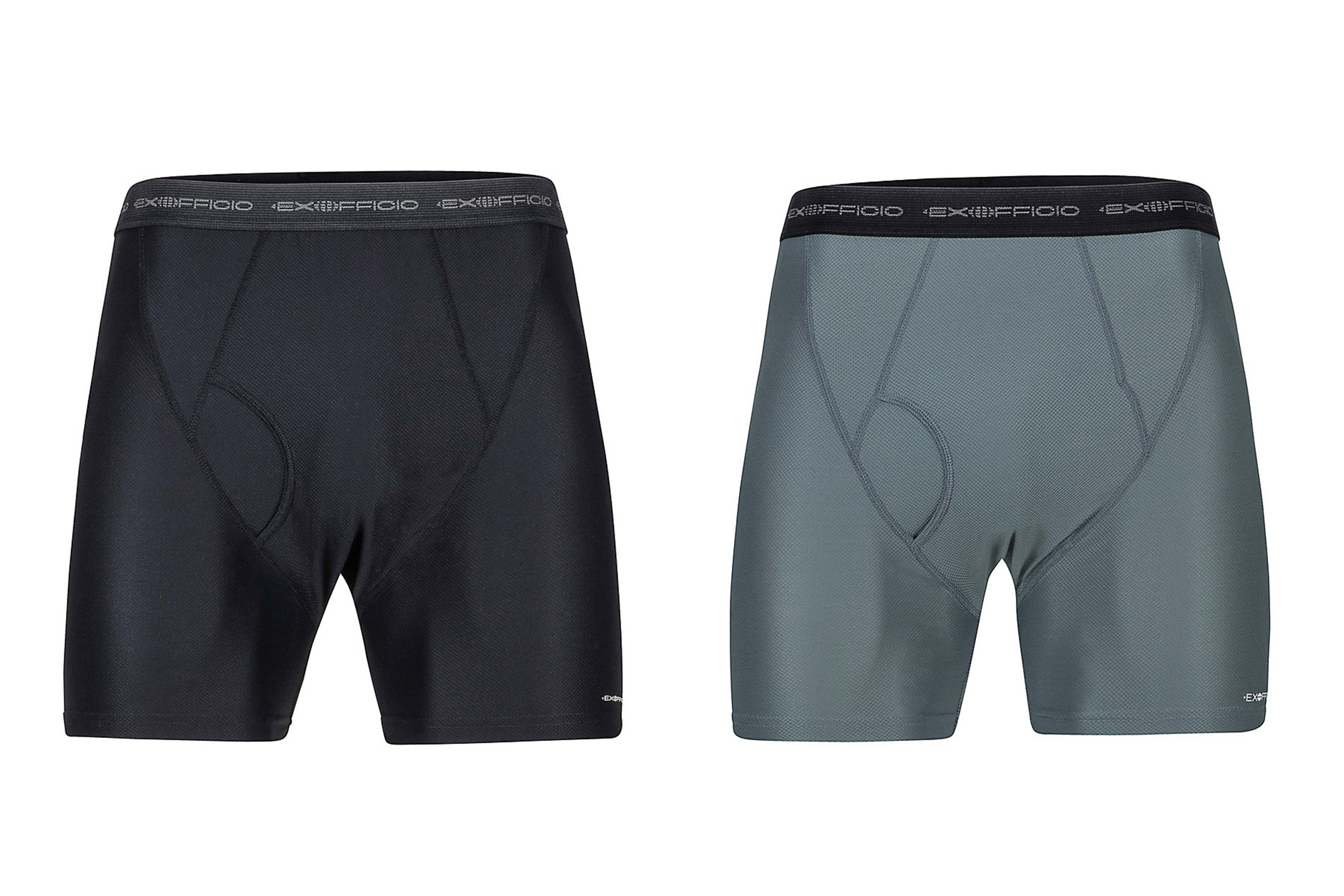 ExOfficio Give-N-Go Boxer Brief In Black And Charcoal