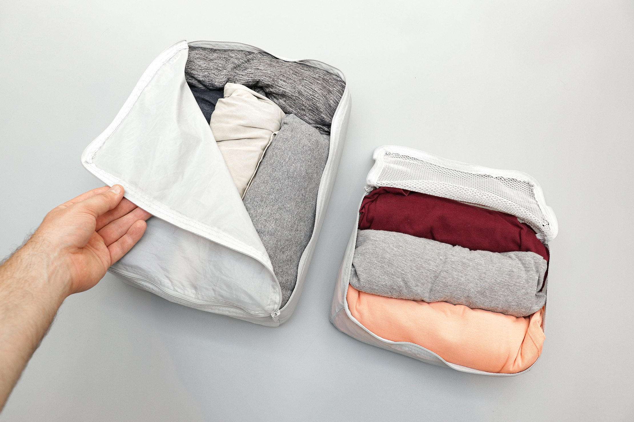 IKEA FORFINA Packing Cubes With Clothes