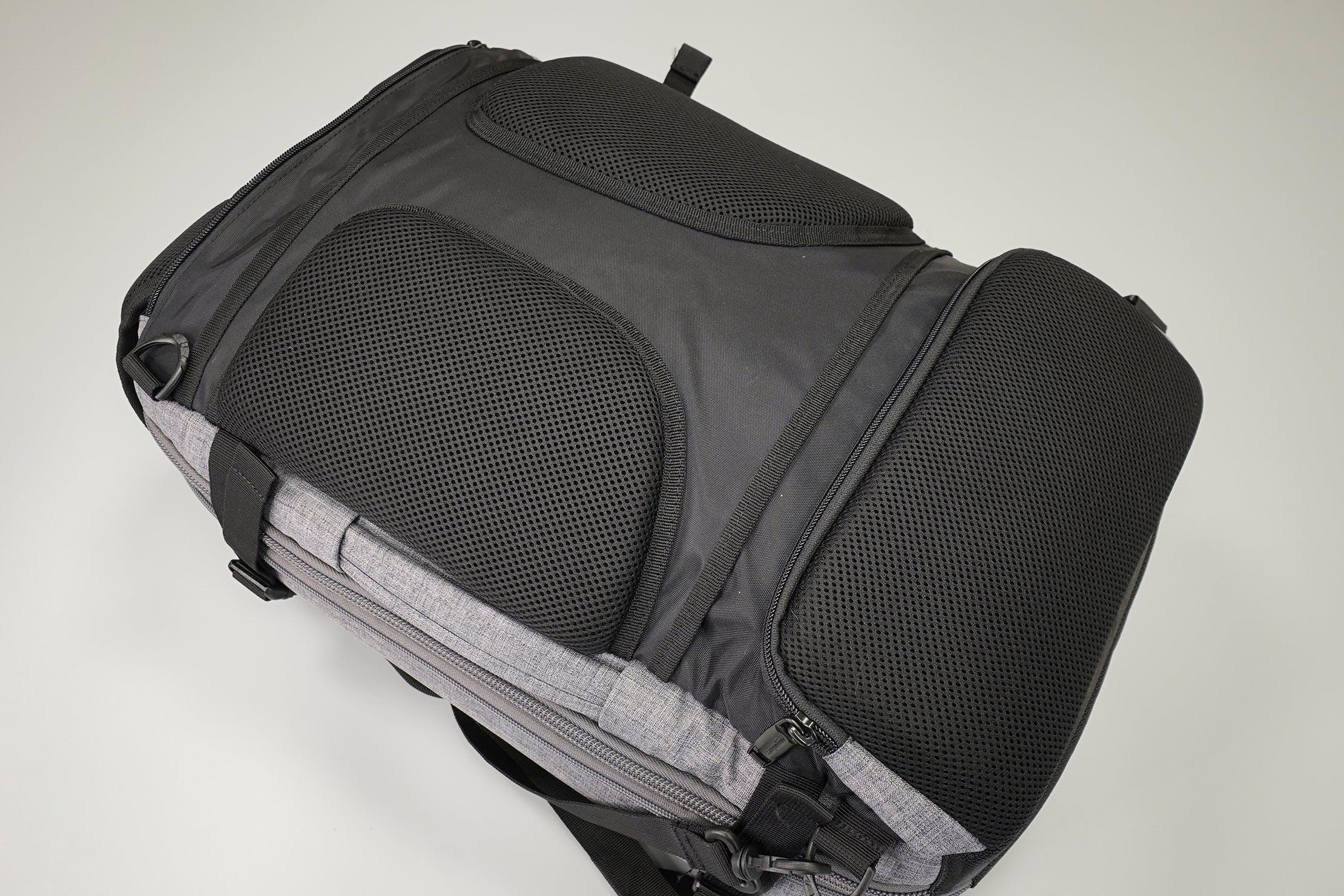 AmazonBasics Slim Travel Backpack Weekender Back Panel
