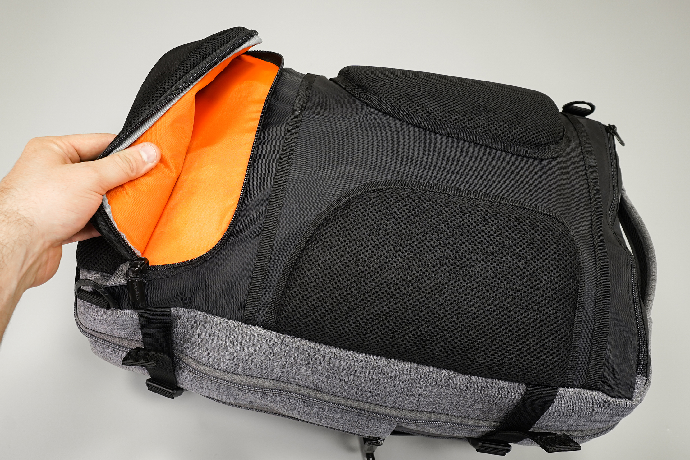 AmazonBasics Slim Travel Backpack Weekender Back Security Pocket