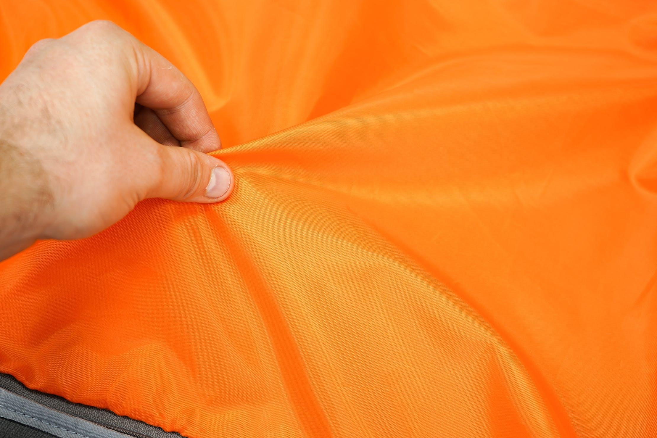 AmazonBasics Slim Travel Backpack Weekender Bright Orange Polyester Lining