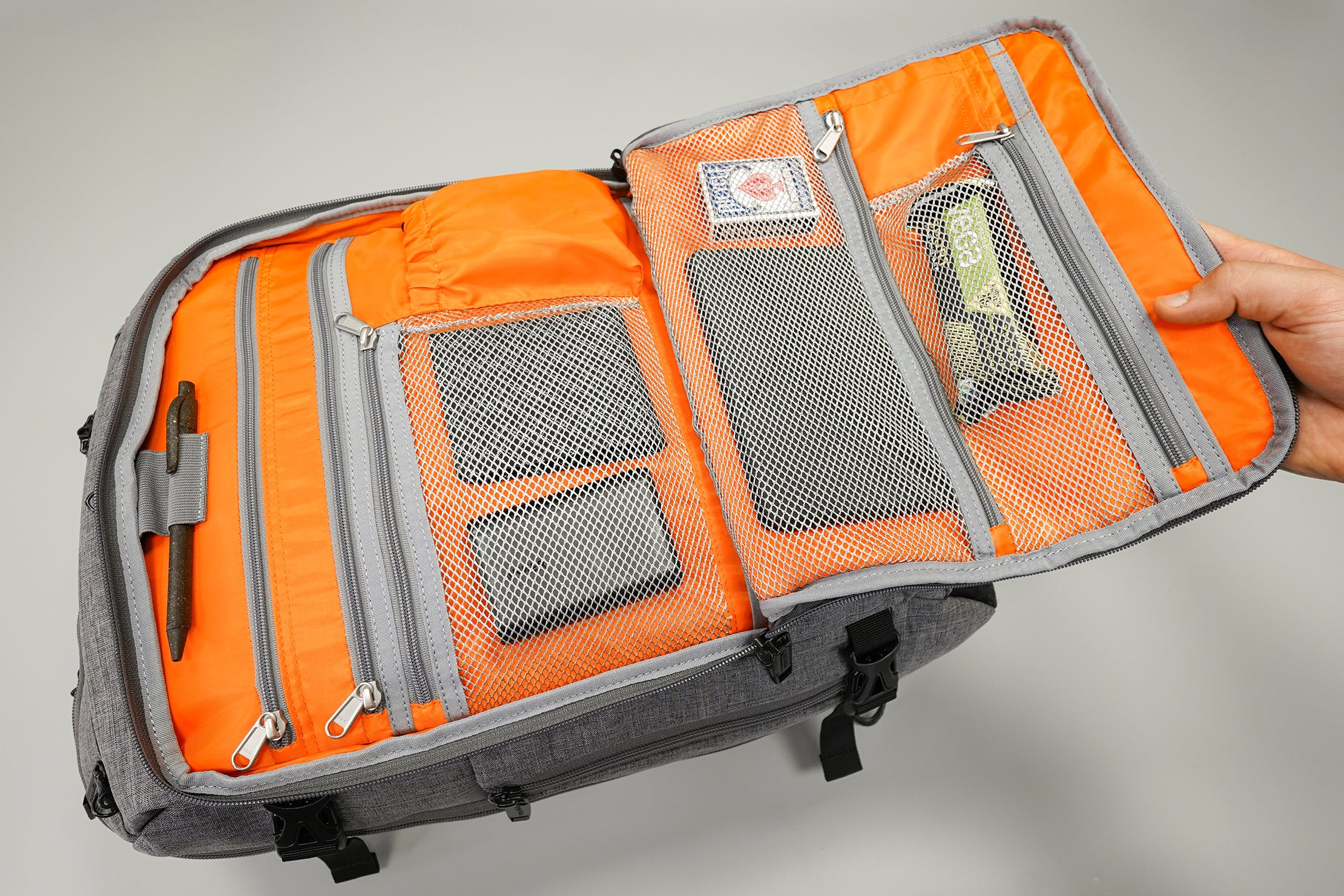 AmazonBasics Slim Travel Backpack Weekender Front Compartment