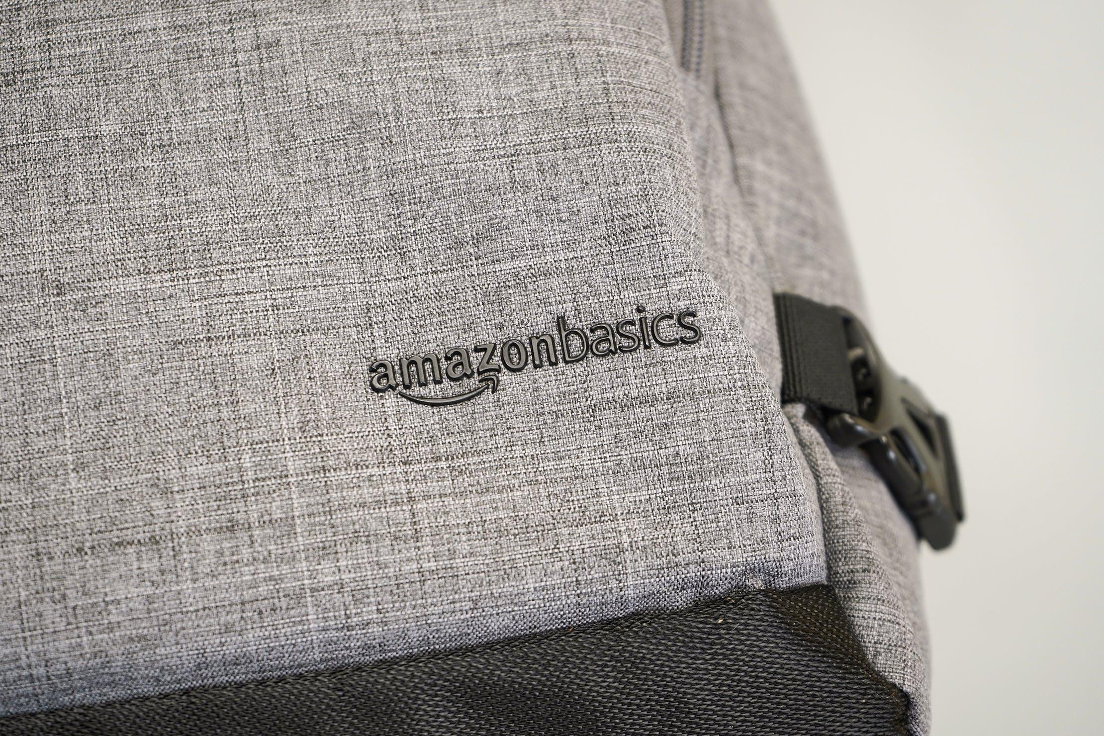AmazonBasics Slim Travel Backpack Weekender Logo