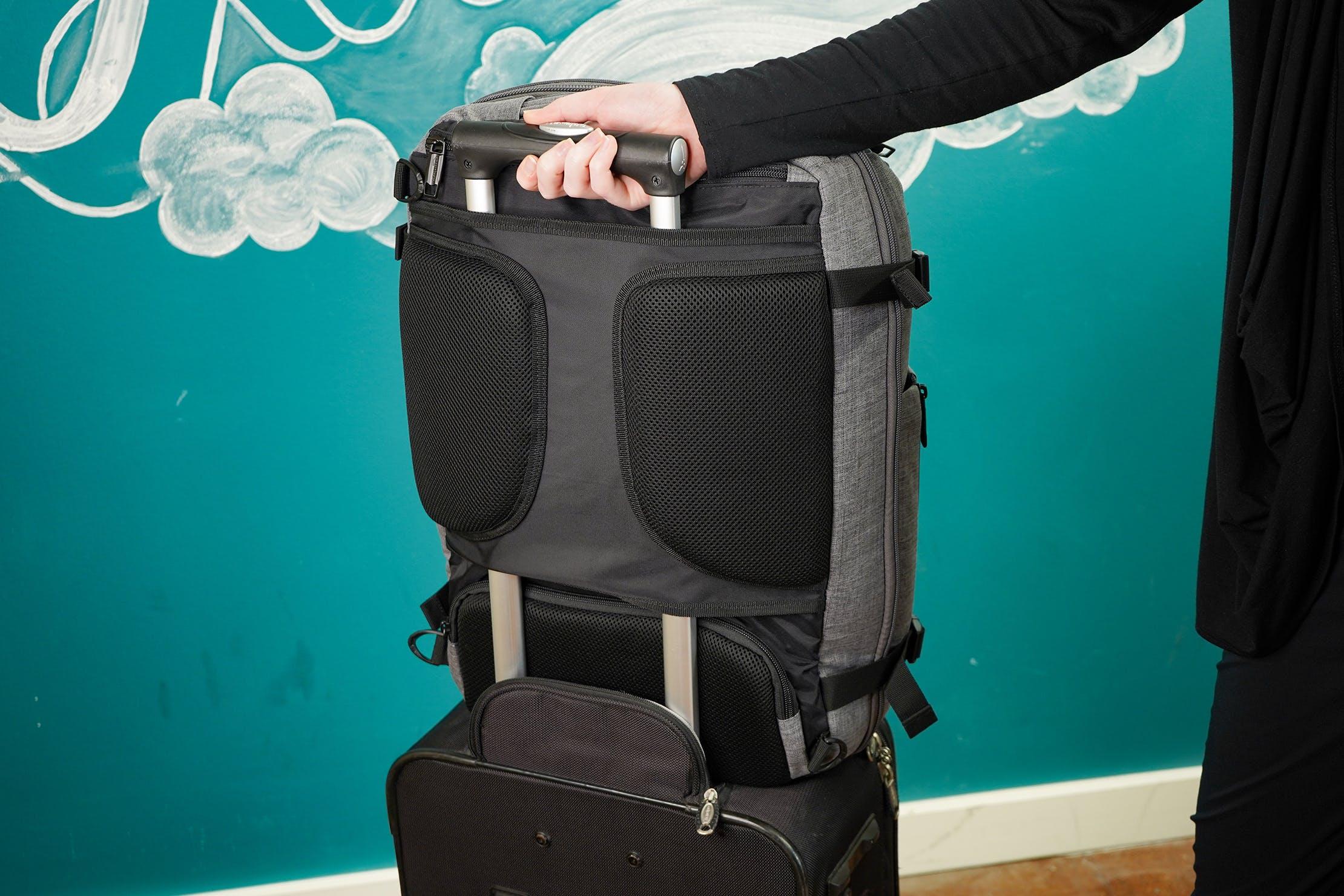AmazonBasics Slim Travel Backpack Weekender Luggage Pass Through