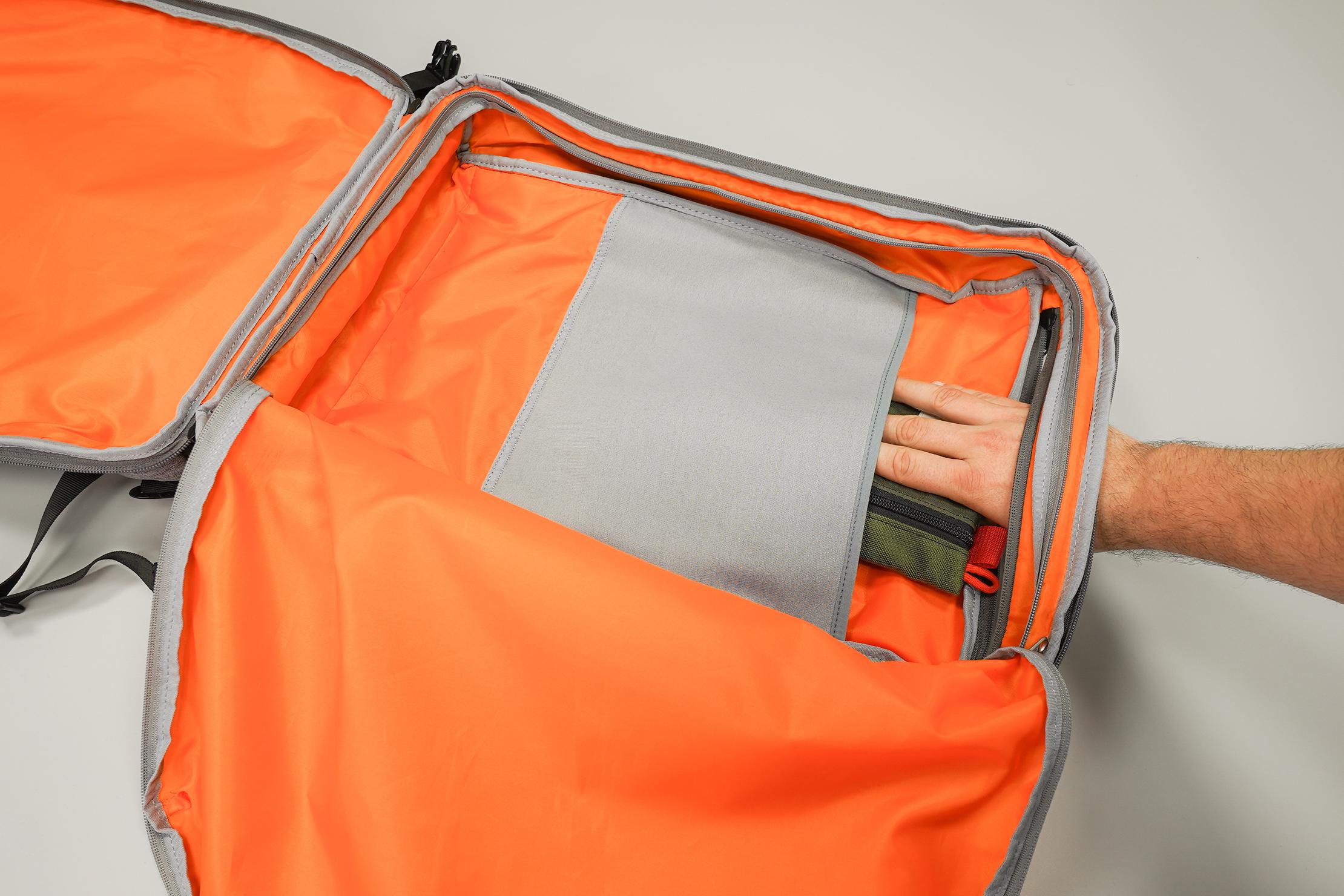 AmazonBasics Slim Travel Backpack Weekender Main Compartment Zipper Access