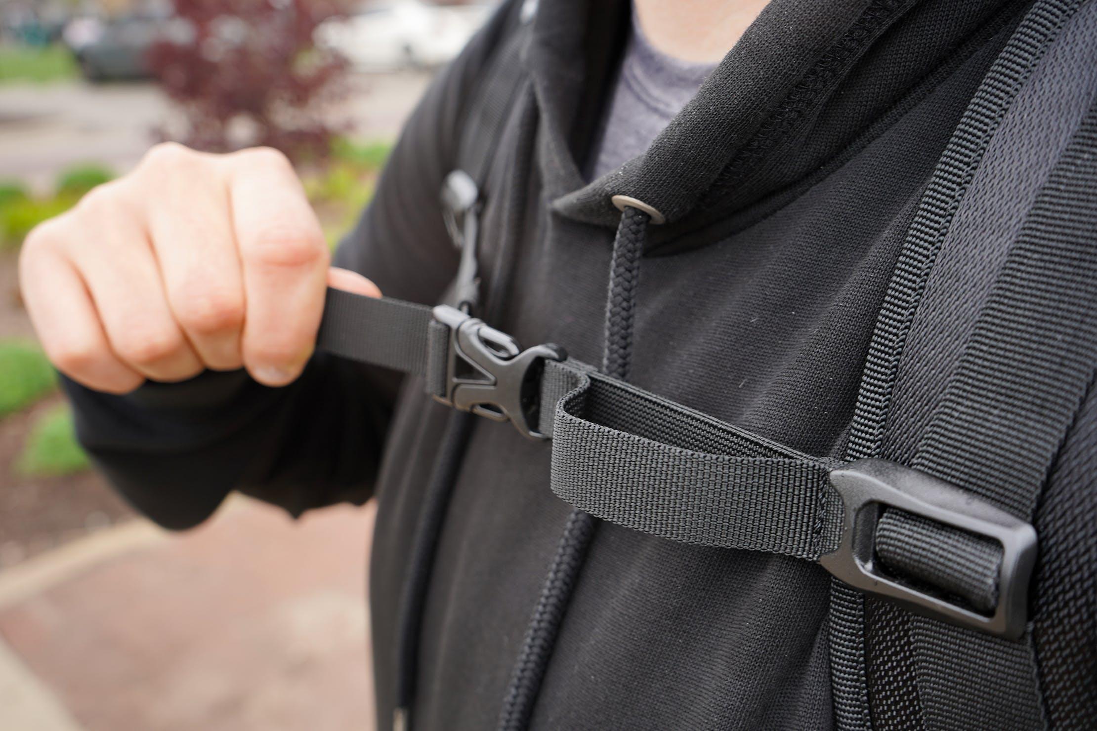 AmazonBasics Slim Travel Backpack Weekender Sternum Strap