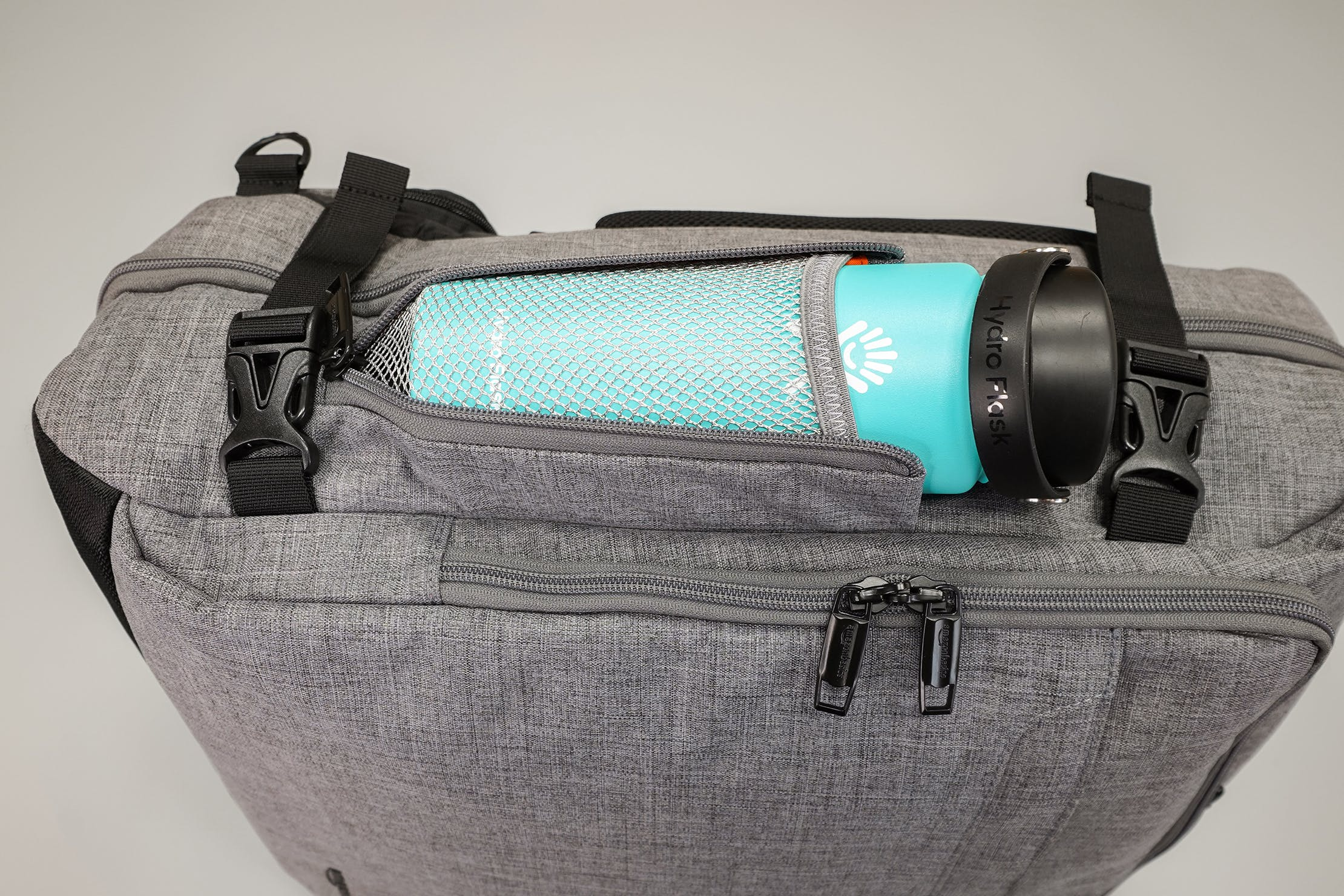 AmazonBasics Slim Travel Backpack Weekender Water Bottle Pocket