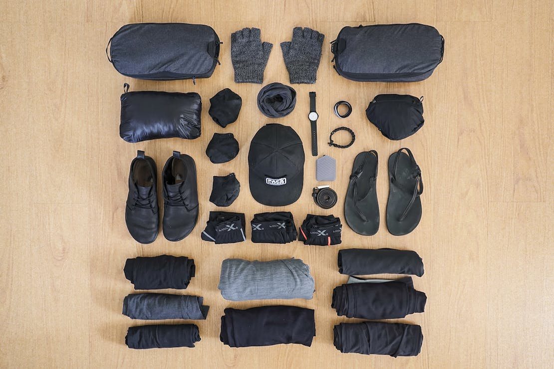 Digital Nomad Packing List Men's Focused Clothing and Accessories