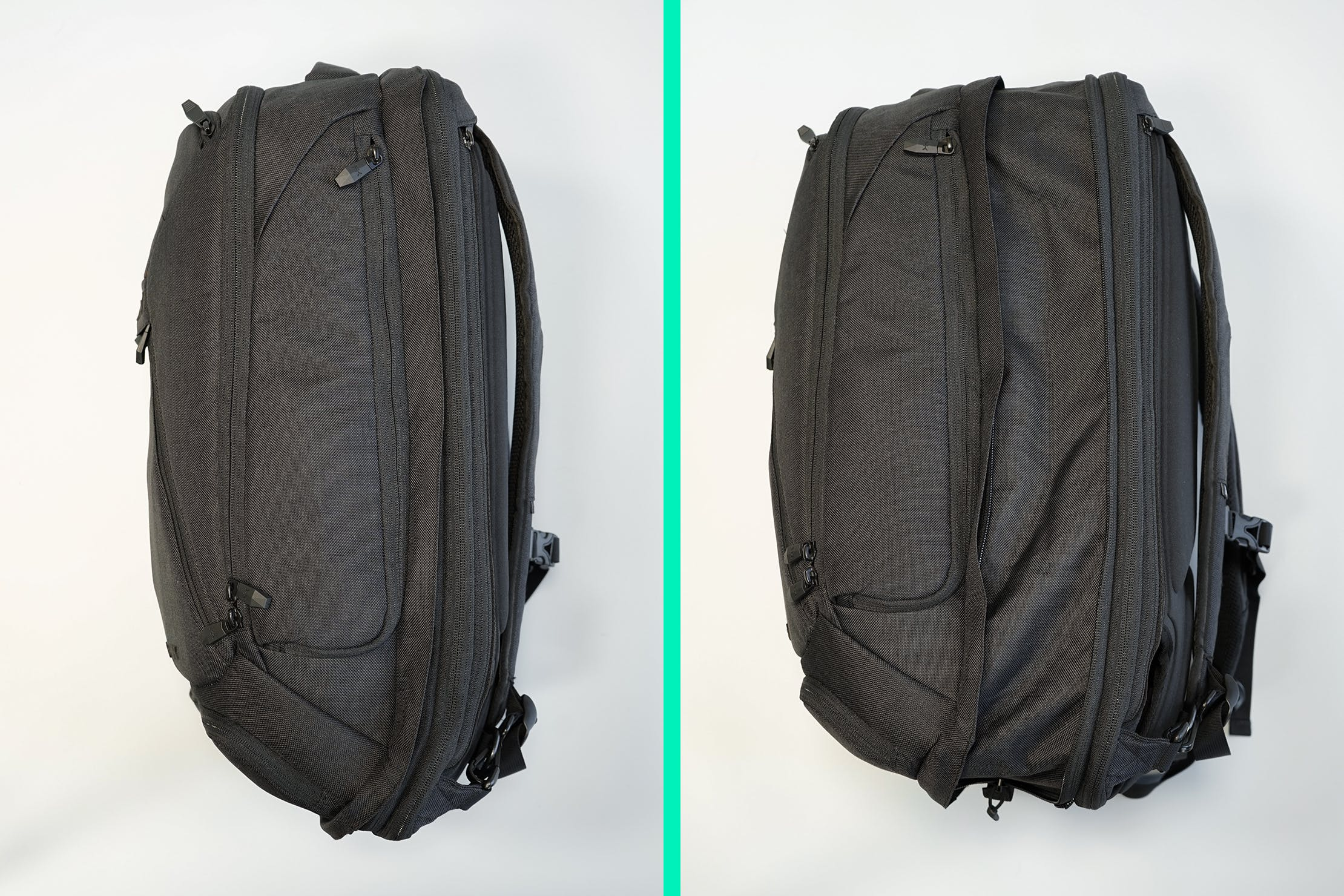 Knack Large Expandable Pack Compressed (Left) Expanded (Right)