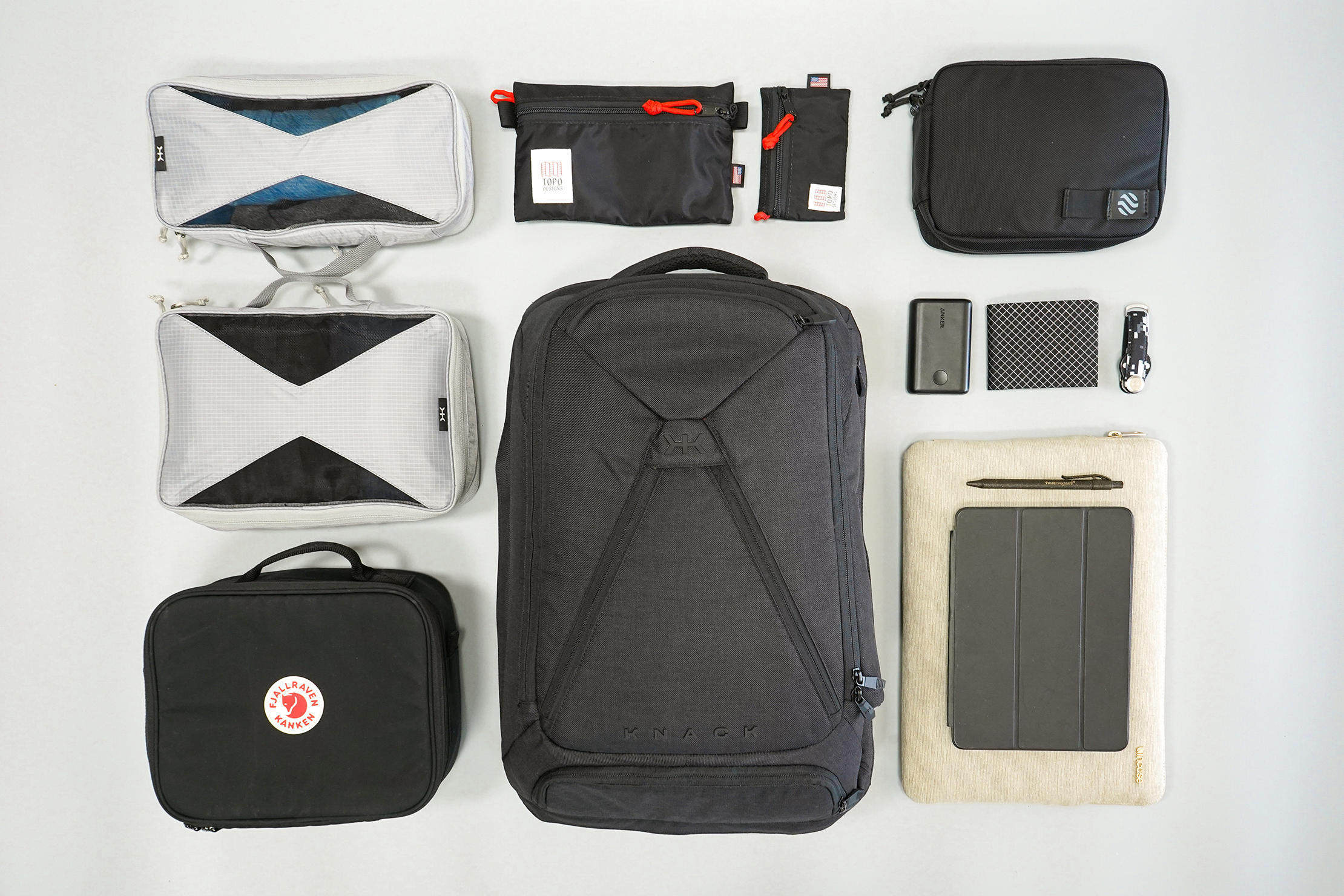 Knack Large Expandable Pack Flat Lay