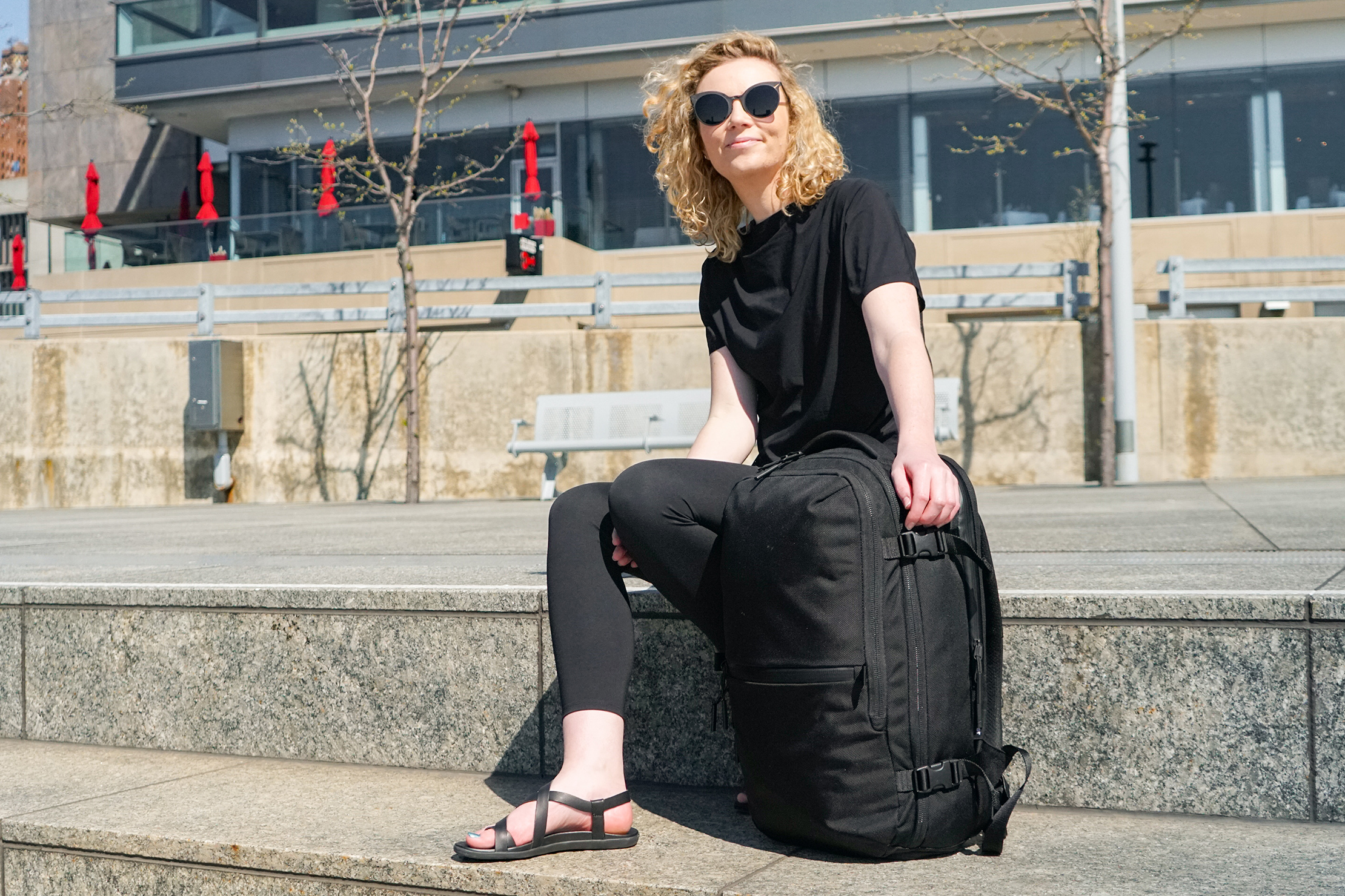 Rebecca With The Aer Travel Pack 2 In Detroit, Michigan