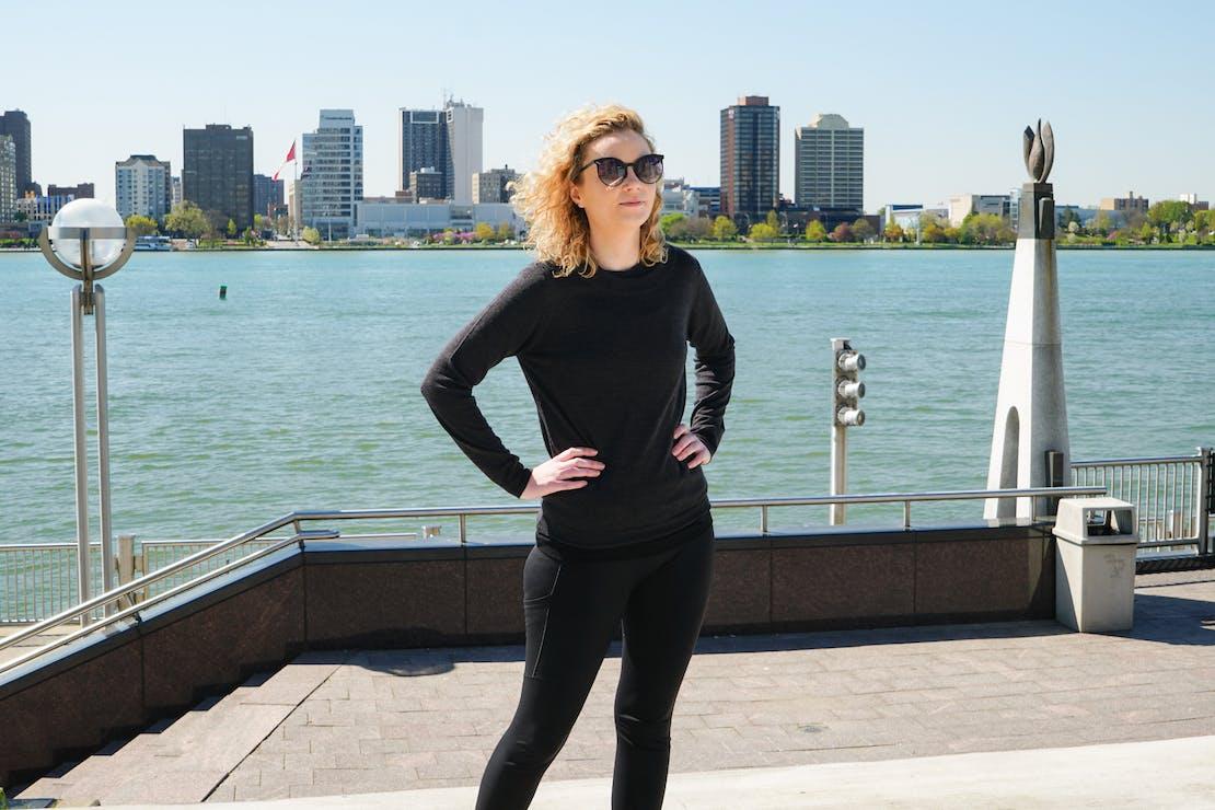 WoolOvers Lightweight 100% Merino Sweater In Detroit, Michigan