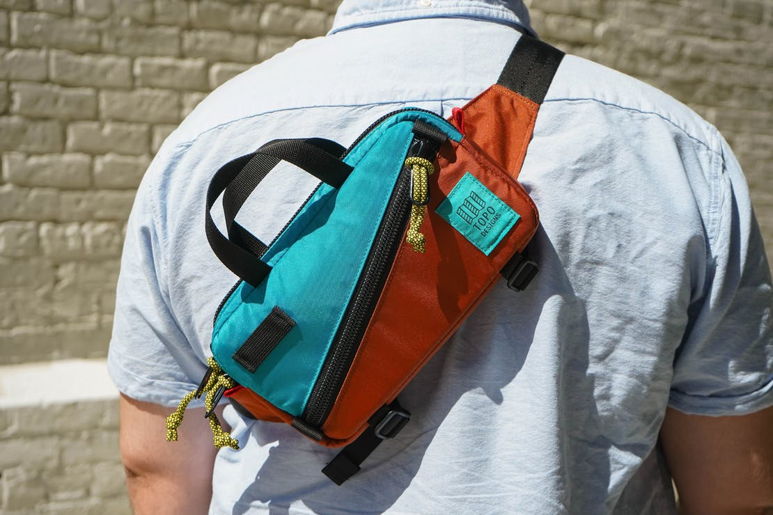 Topo Designs Mini Quick Pack On Back