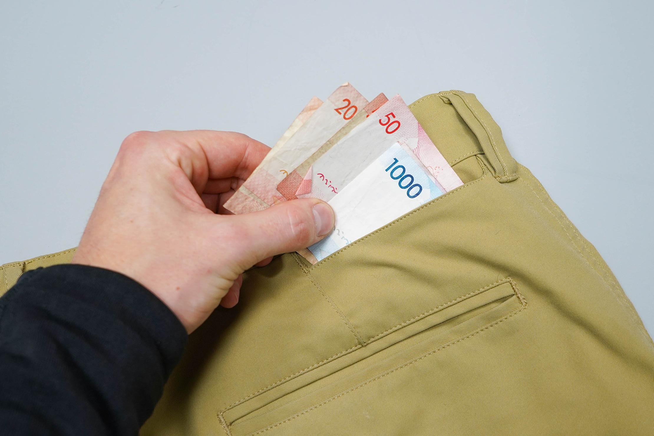 Bluffworks Ascender Chino Cash Pocket
